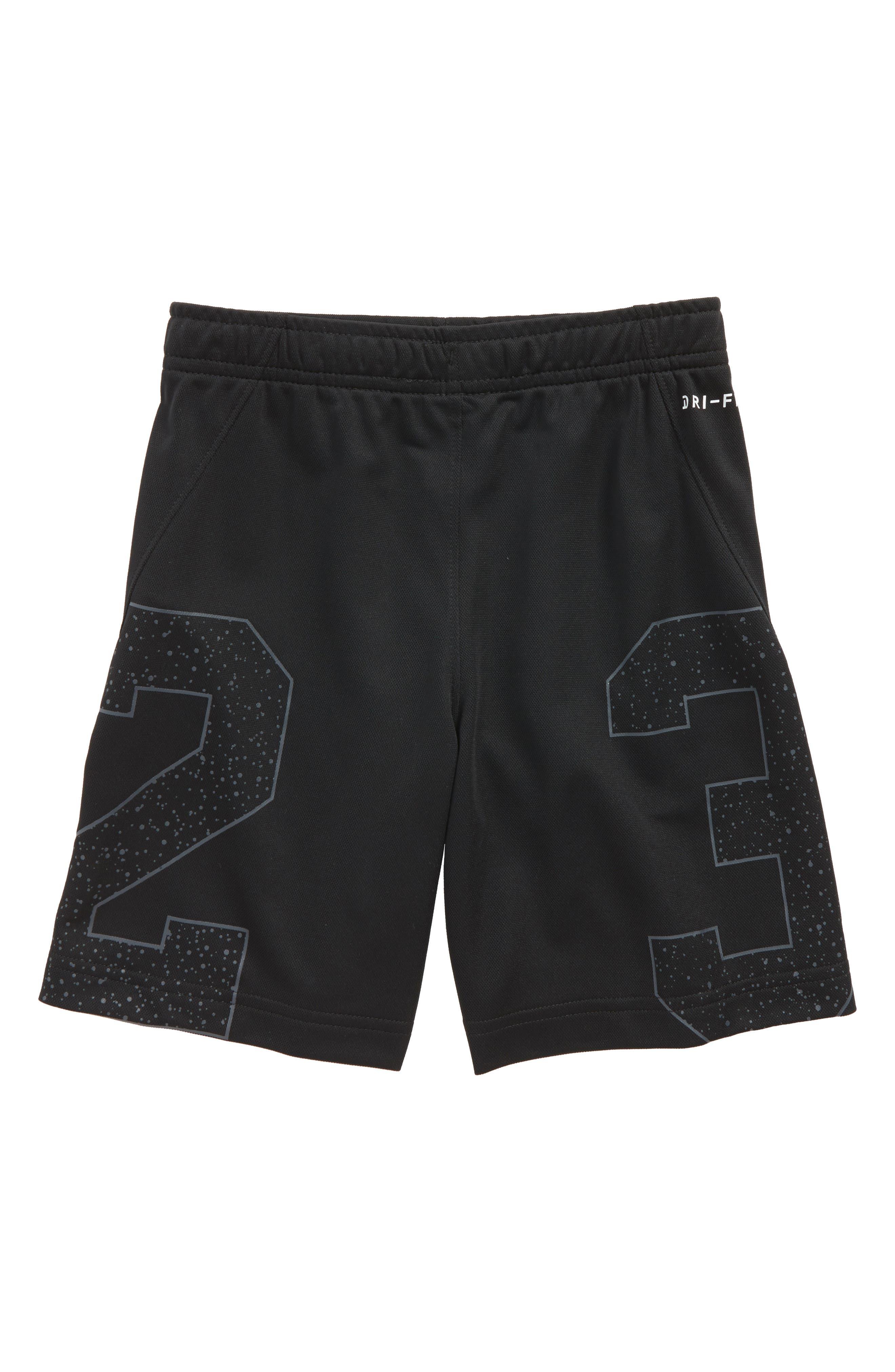 Jordan Dry Speckle 23 Training Shorts,                             Alternate thumbnail 2, color,                             Black