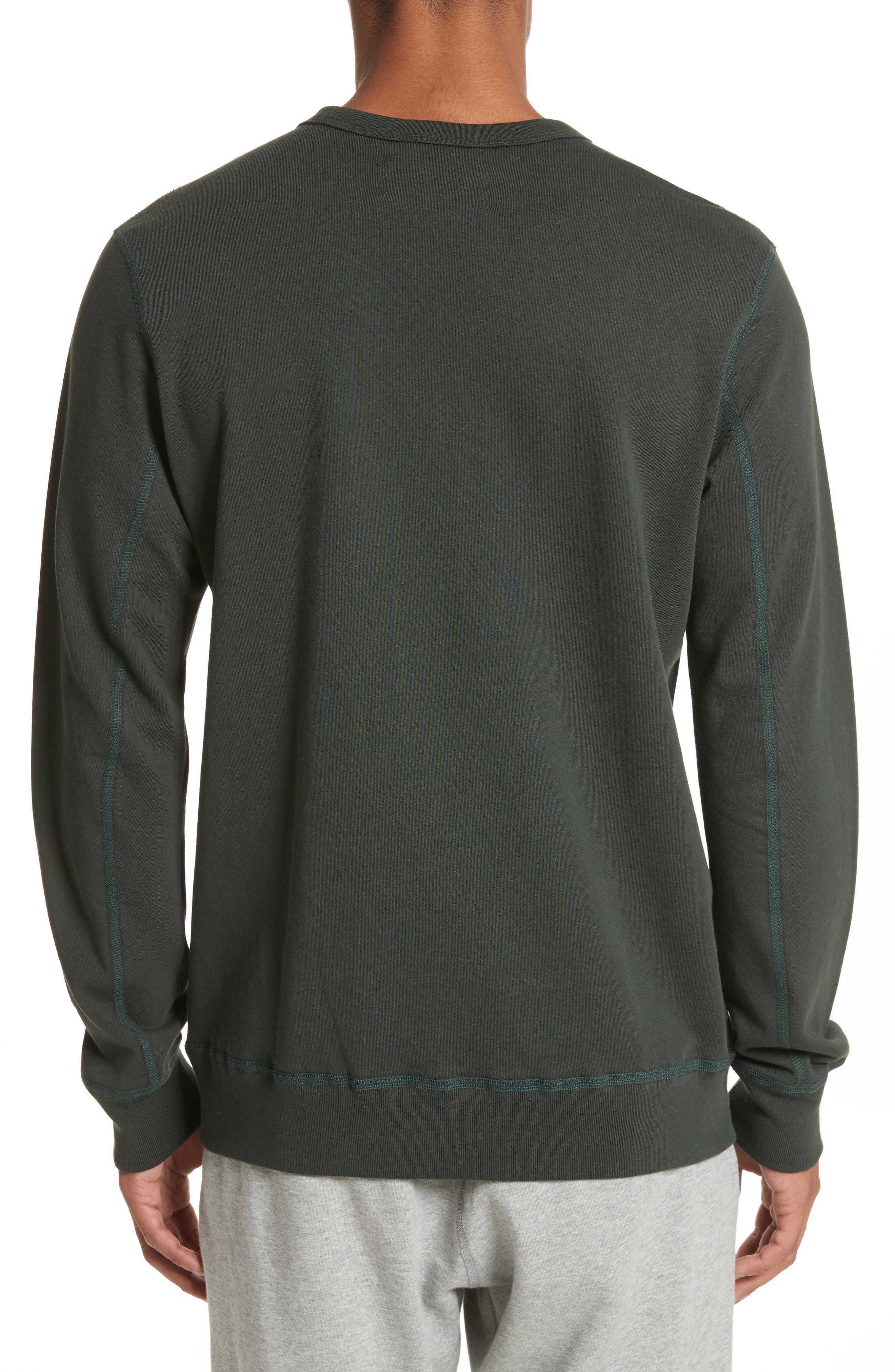 Crewneck Sweatshirt,                             Alternate thumbnail 2, color,                             Jungle Green