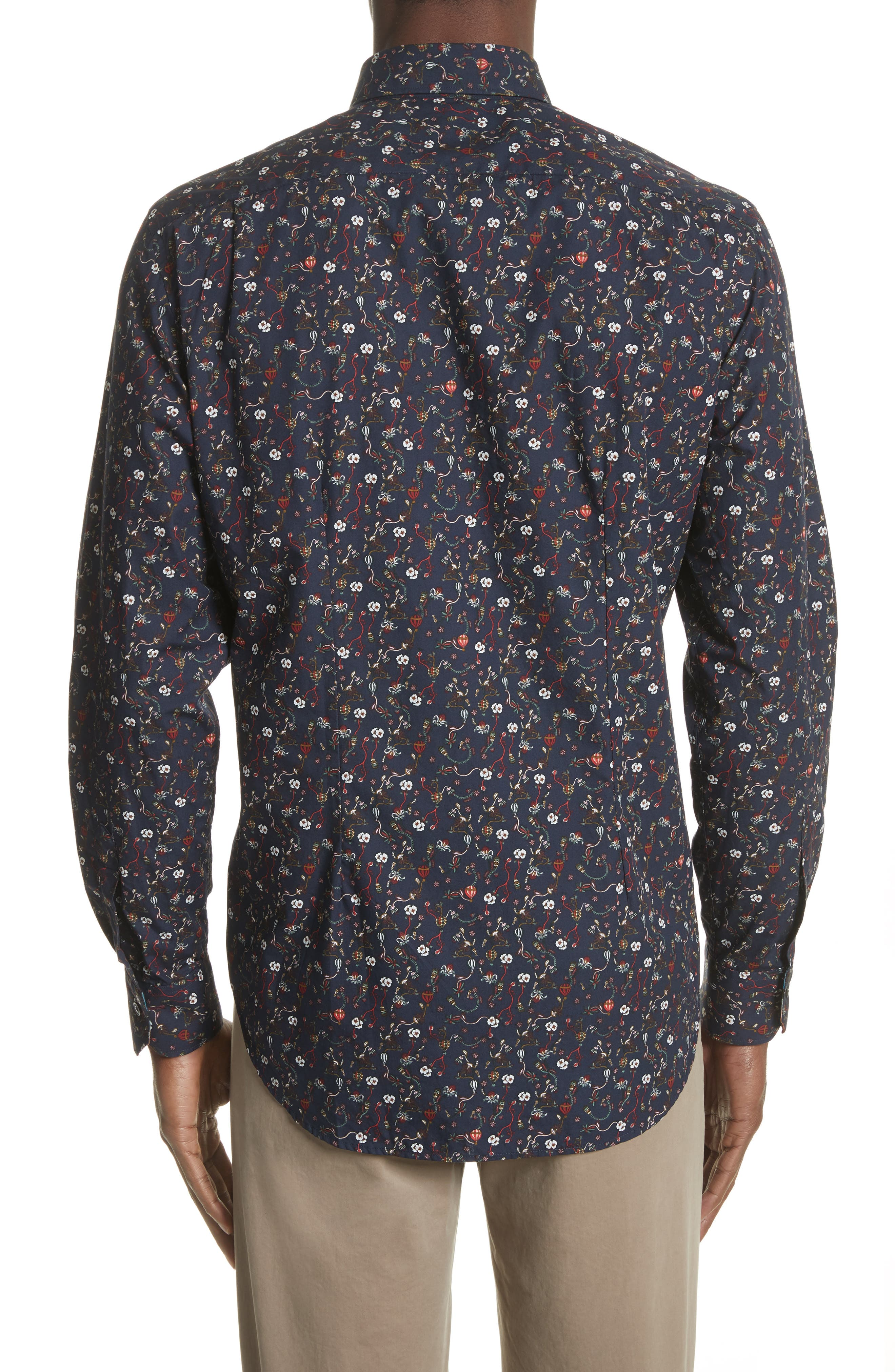 Alternate Image 2  - Paul Smith Floral Print Shirt