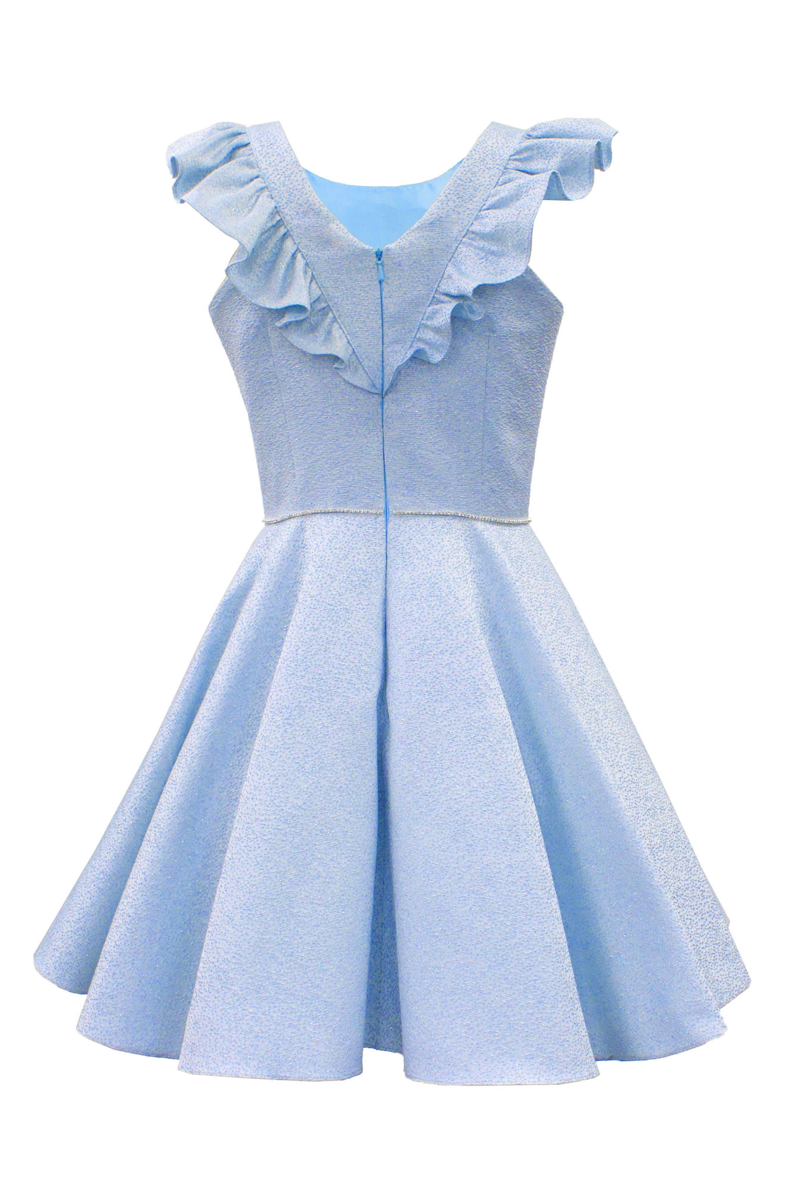 Alternate Image 2  - David Charles Flutter Sleeve Dress (Big Girls)