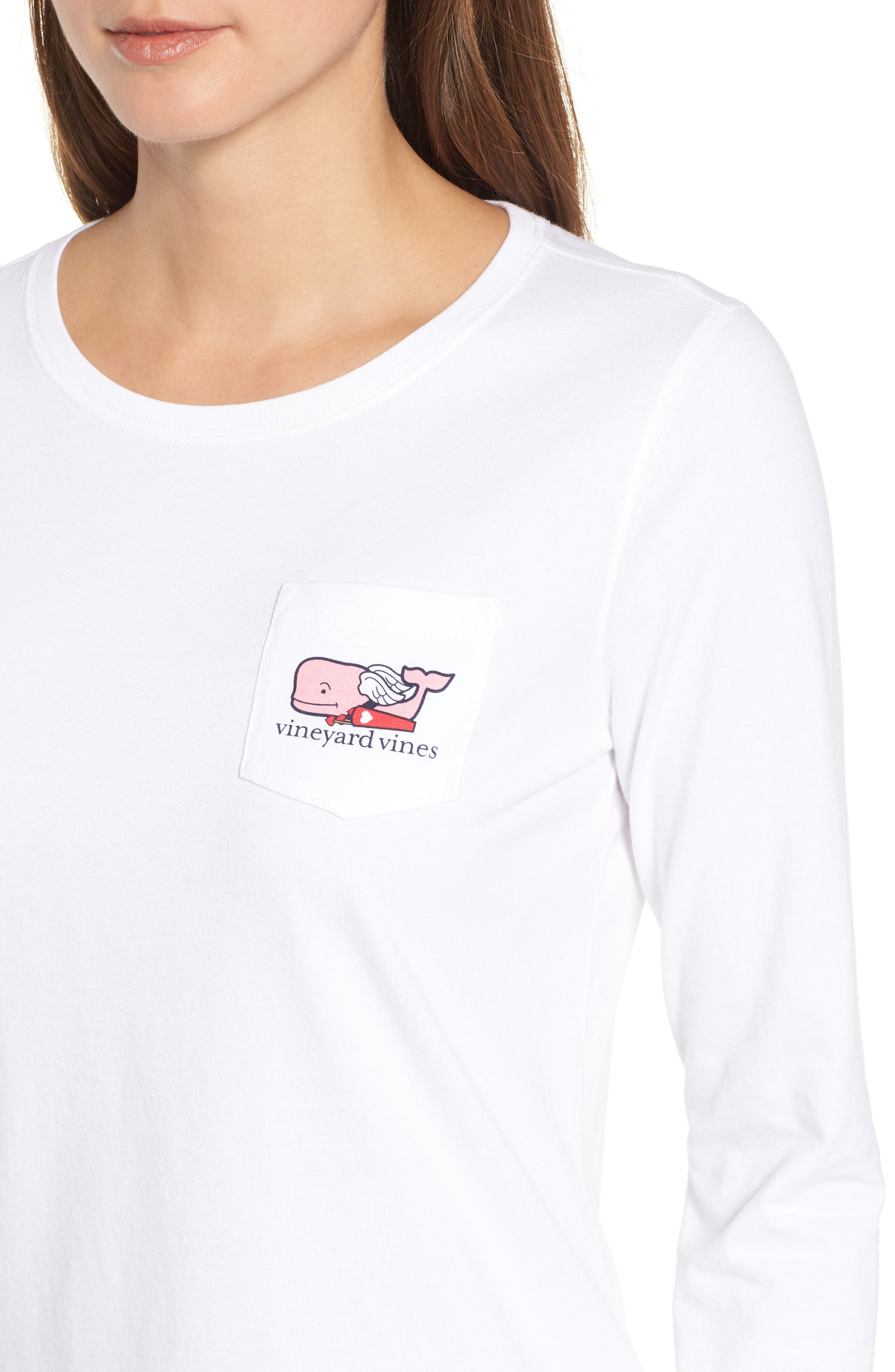 Alternate Image 4  - vineyard vines Cupid Whale Pocket Tee