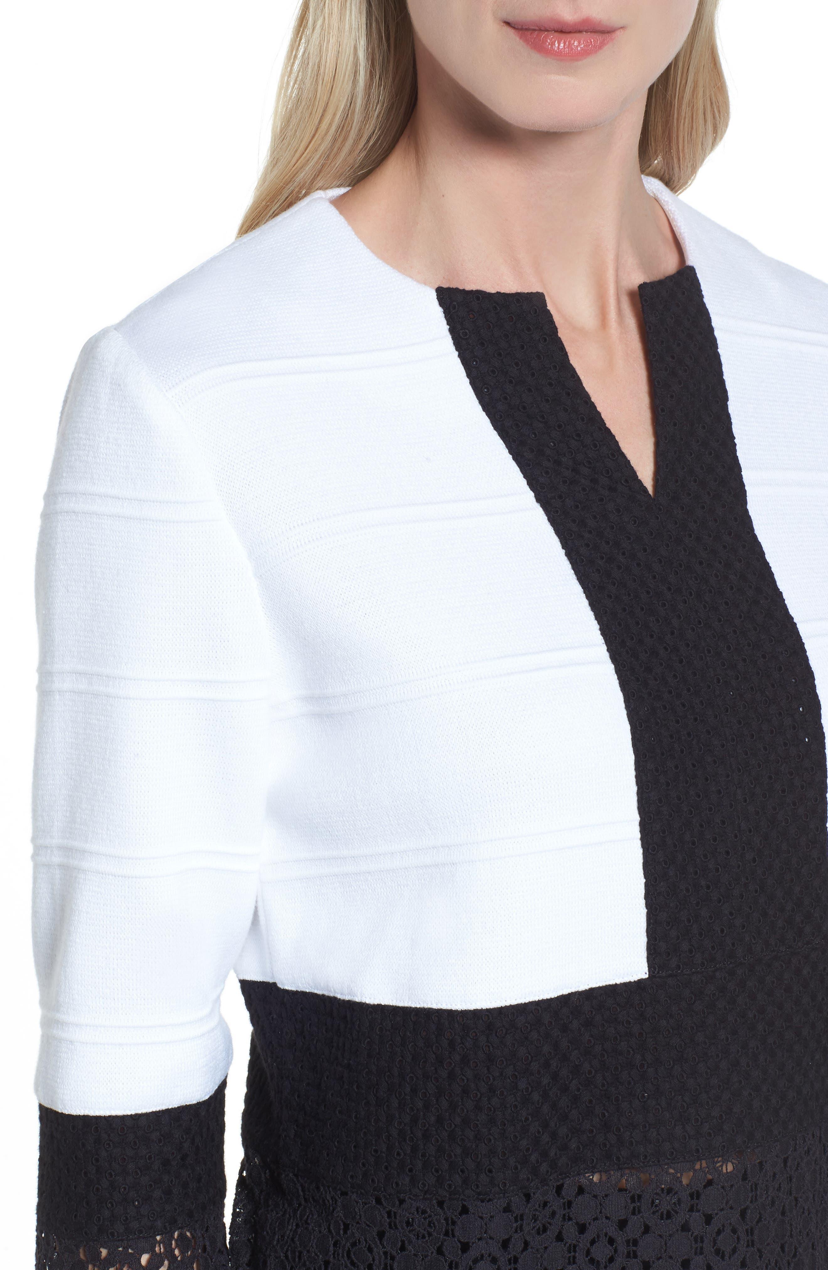 Alternate Image 4  - Ming Wang Knit & Lace Tunic