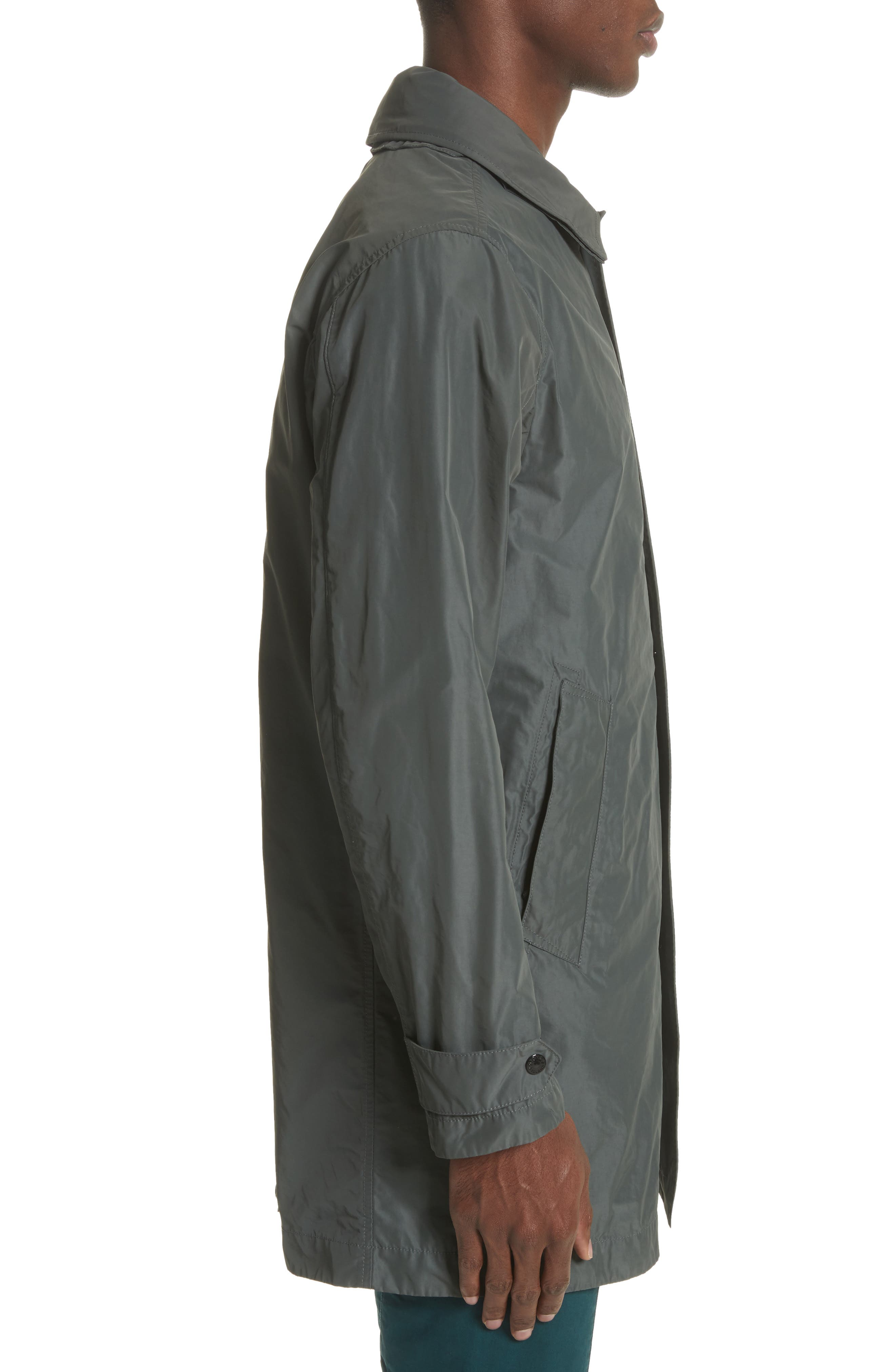 Trench Coat,                             Alternate thumbnail 3, color,                             Grey
