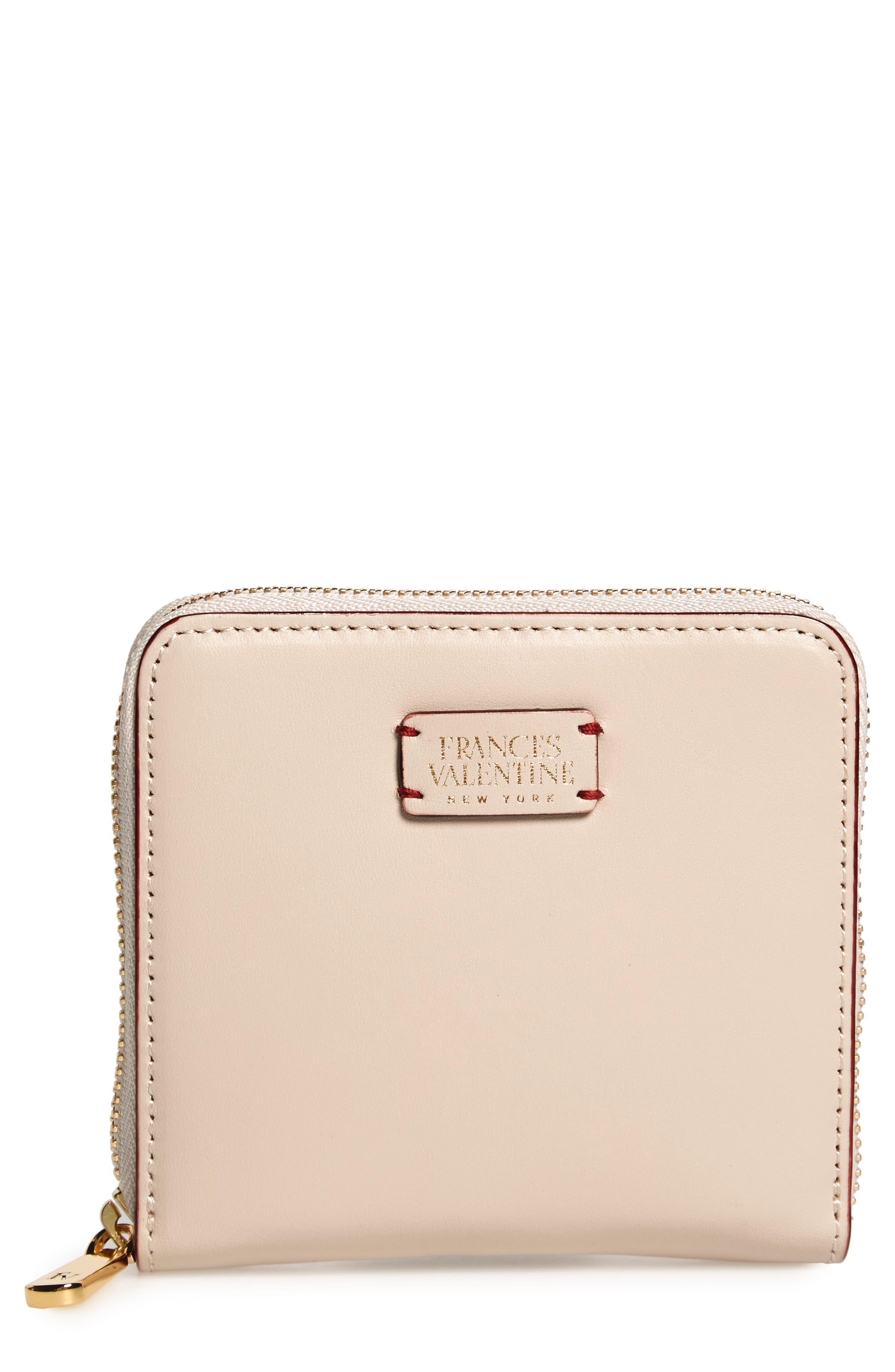 Main Image - Frances Valentine Small Roosevelt Calfskin Leather Wallet
