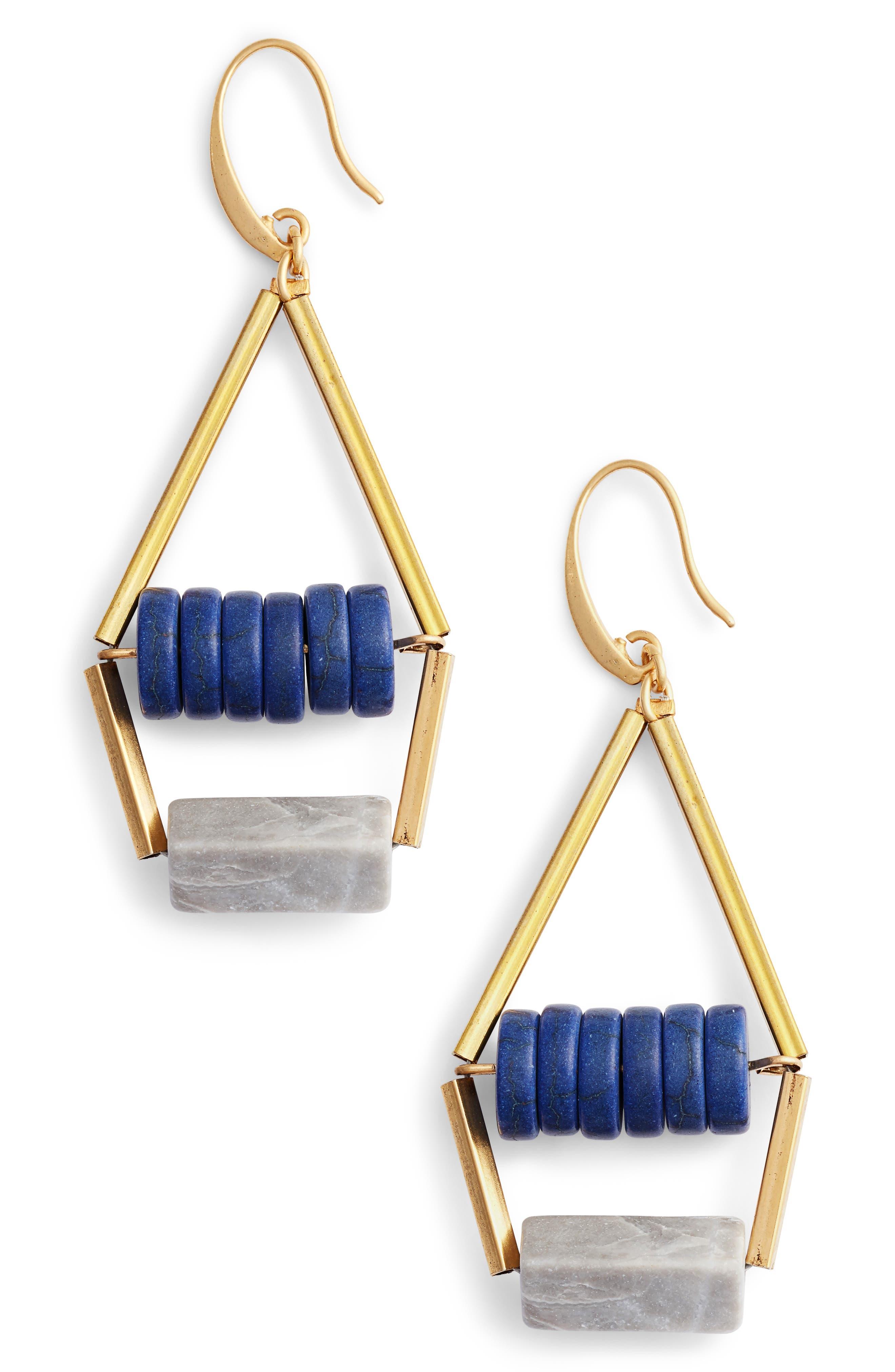 Norah Drop Earrings,                         Main,                         color, Grey/ Blue