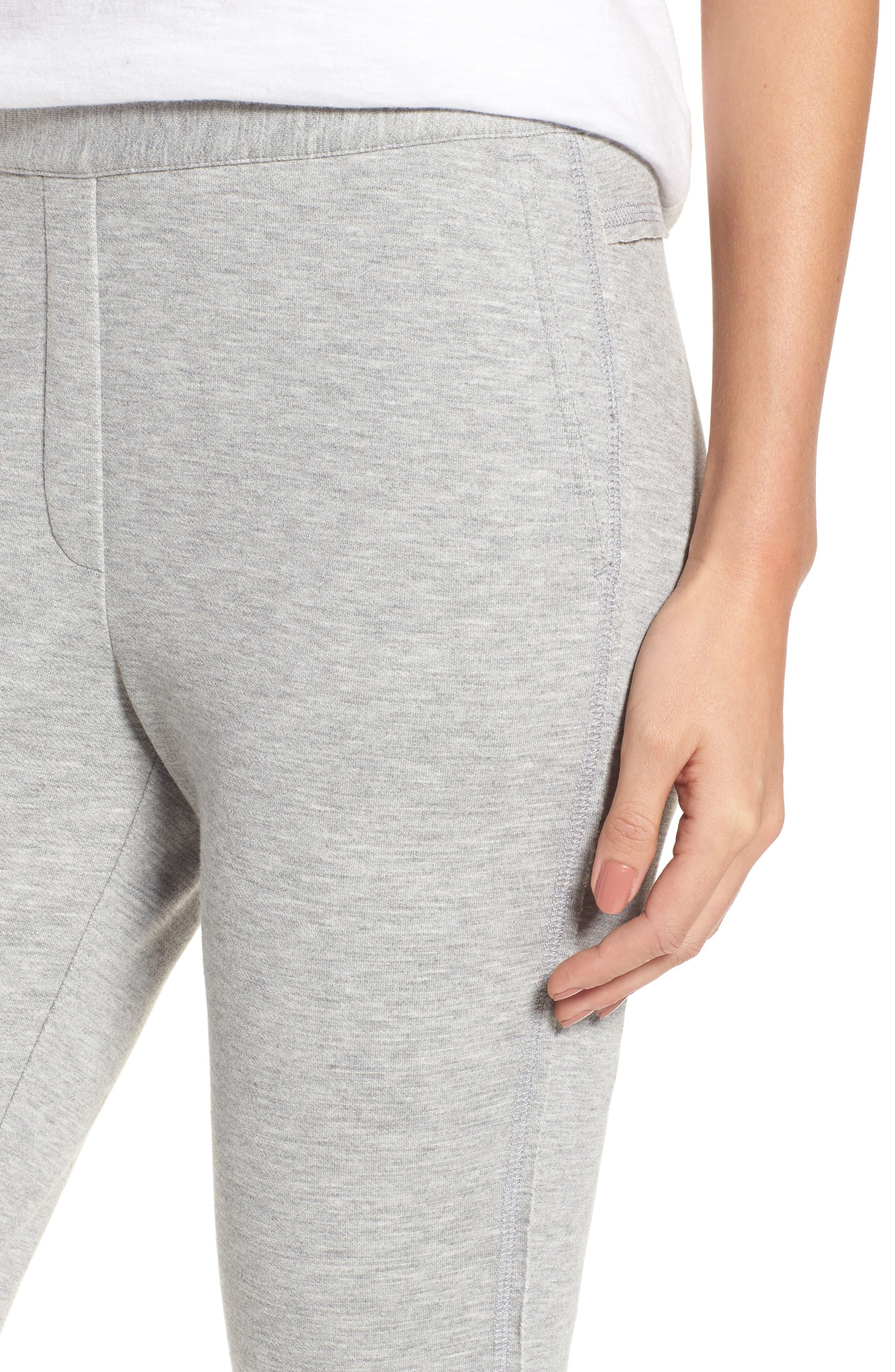 Slim Knit Pants,                             Alternate thumbnail 4, color,                             Heather Grey