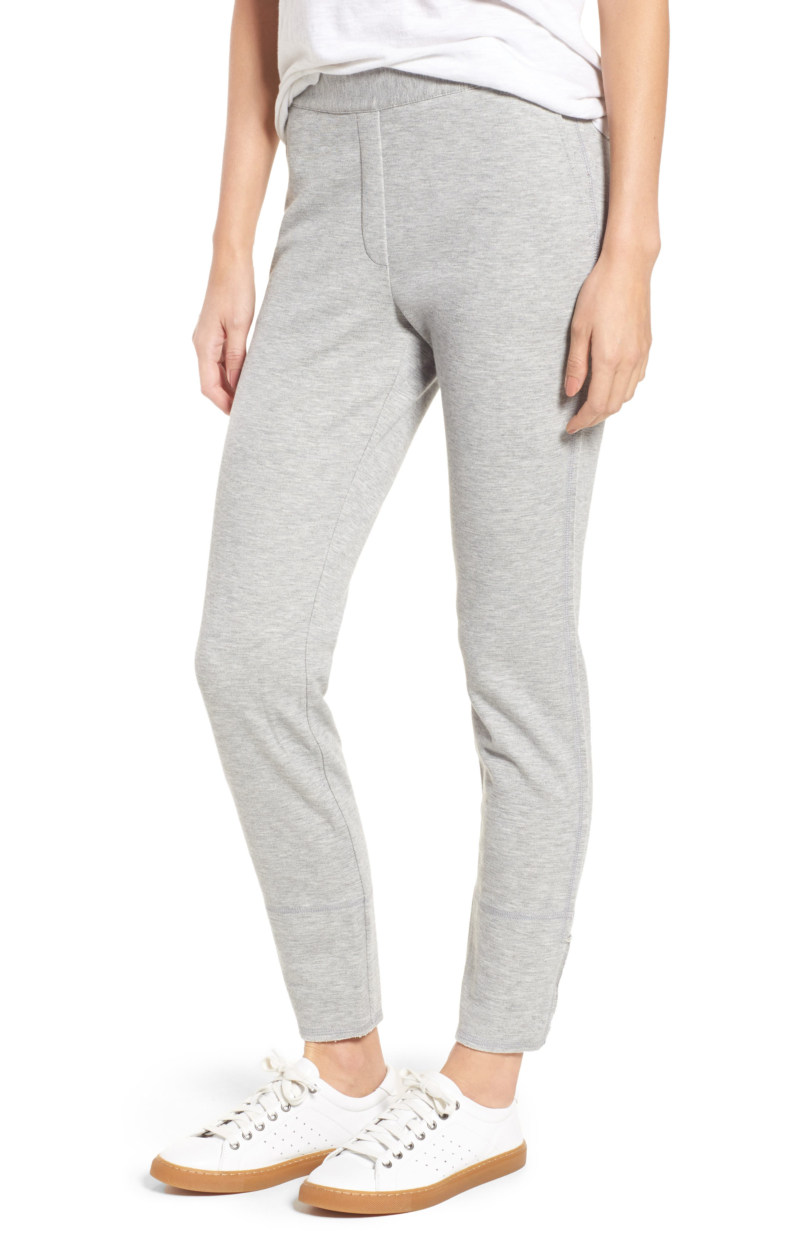 Slim Knit Pants,                             Main thumbnail 1, color,                             Heather Grey