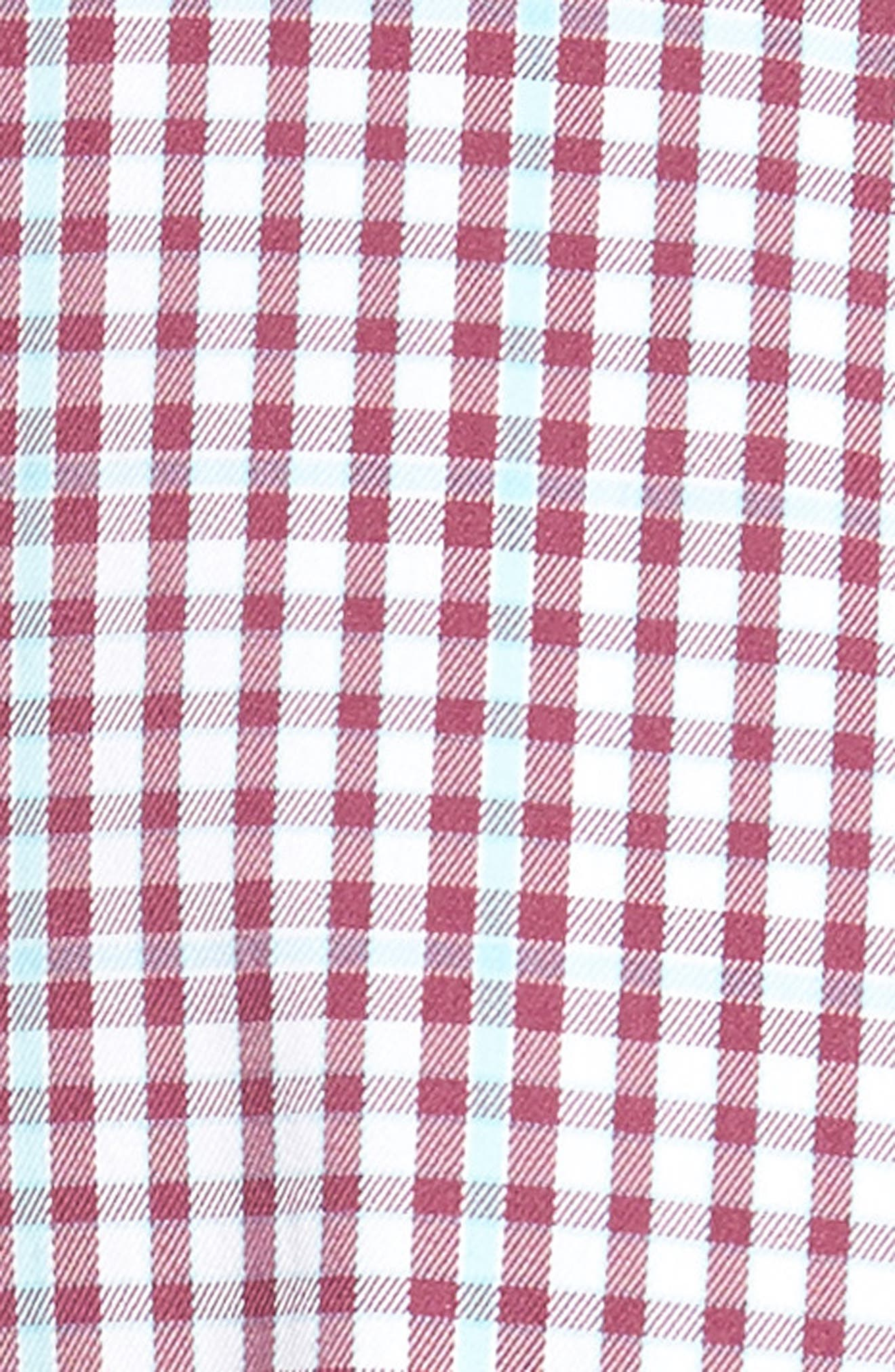 Alternate Image 5  - Peter Millar Diamond Head Regular Fit Gingham Sport Shirt