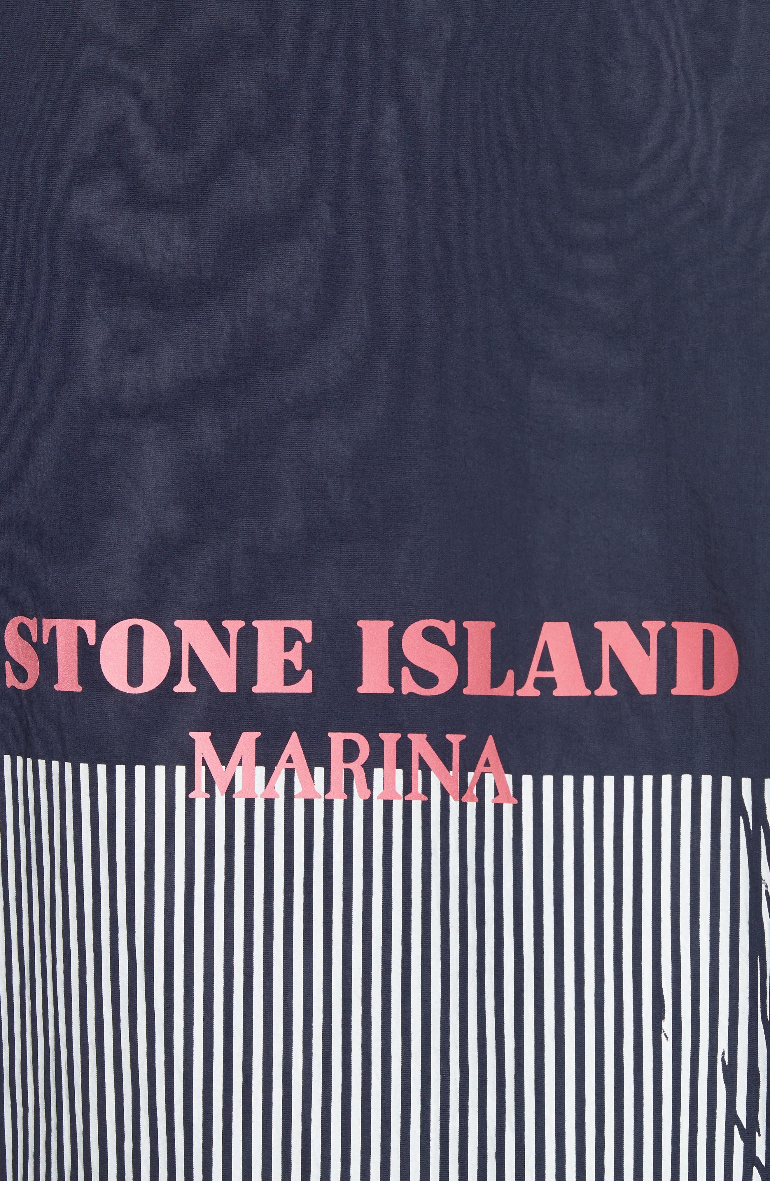 Marina Stripe Sweatshirt,                             Alternate thumbnail 5, color,                             Blue