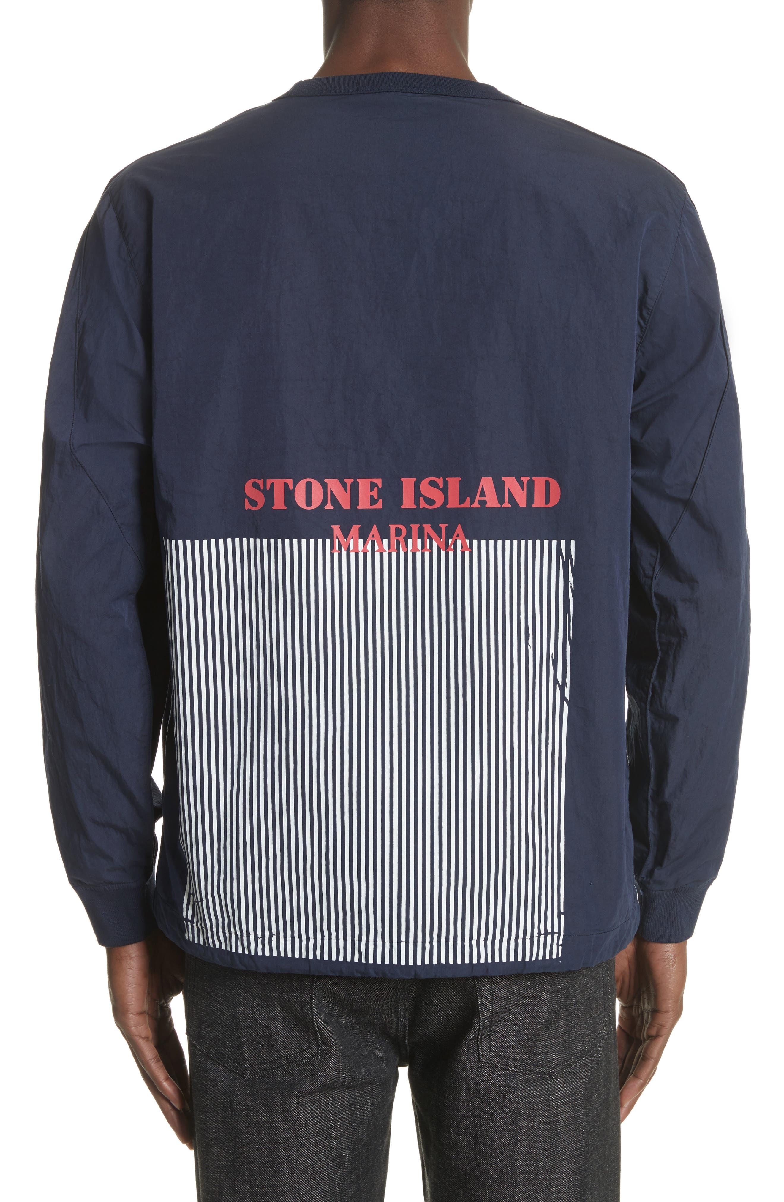 Marina Stripe Sweatshirt,                             Alternate thumbnail 2, color,                             Blue