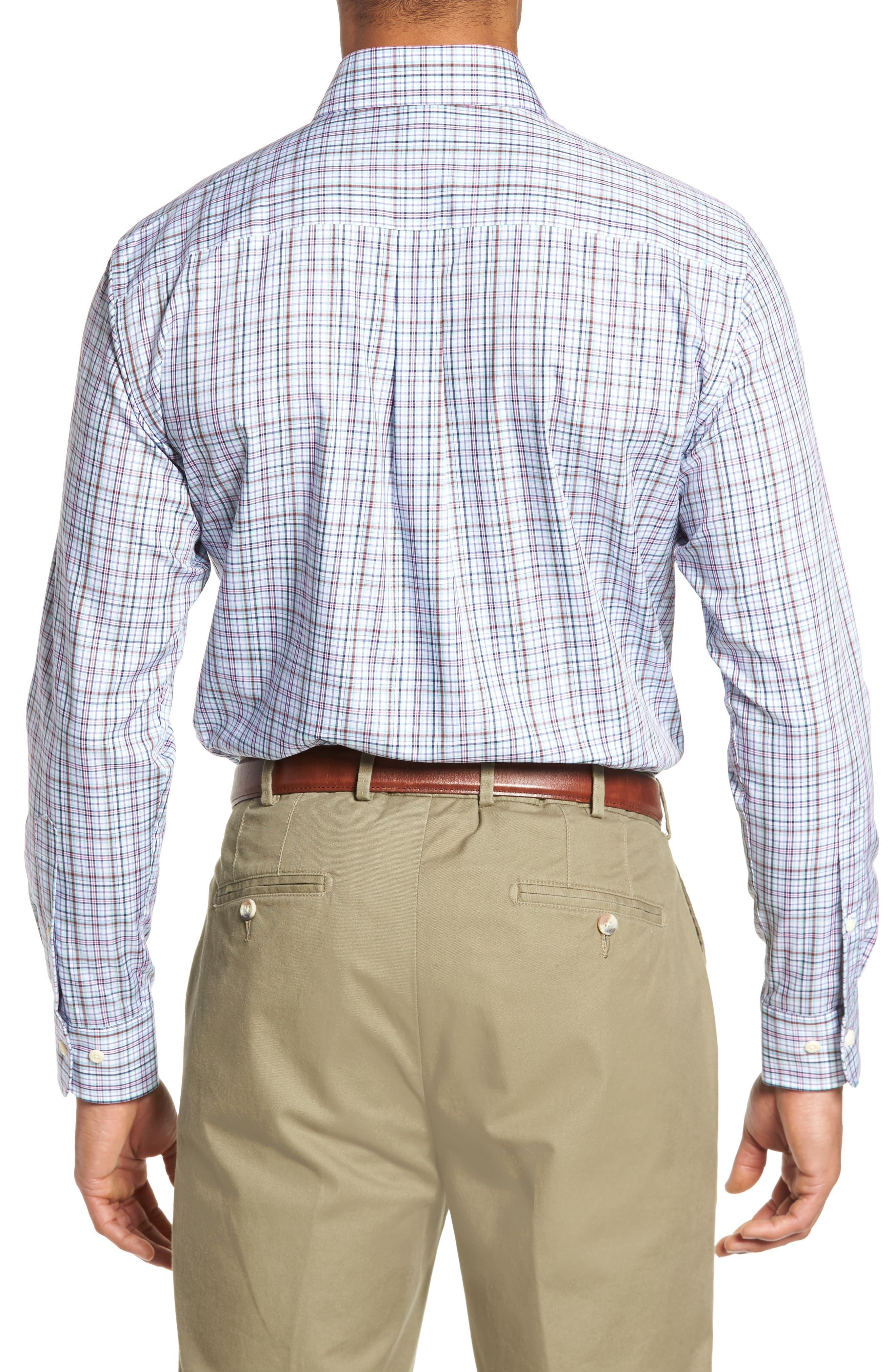 Crown Ease Tango Pinwheel Regular Fit Sport Shirt,                             Alternate thumbnail 2, color,                             Tar Heel Blue