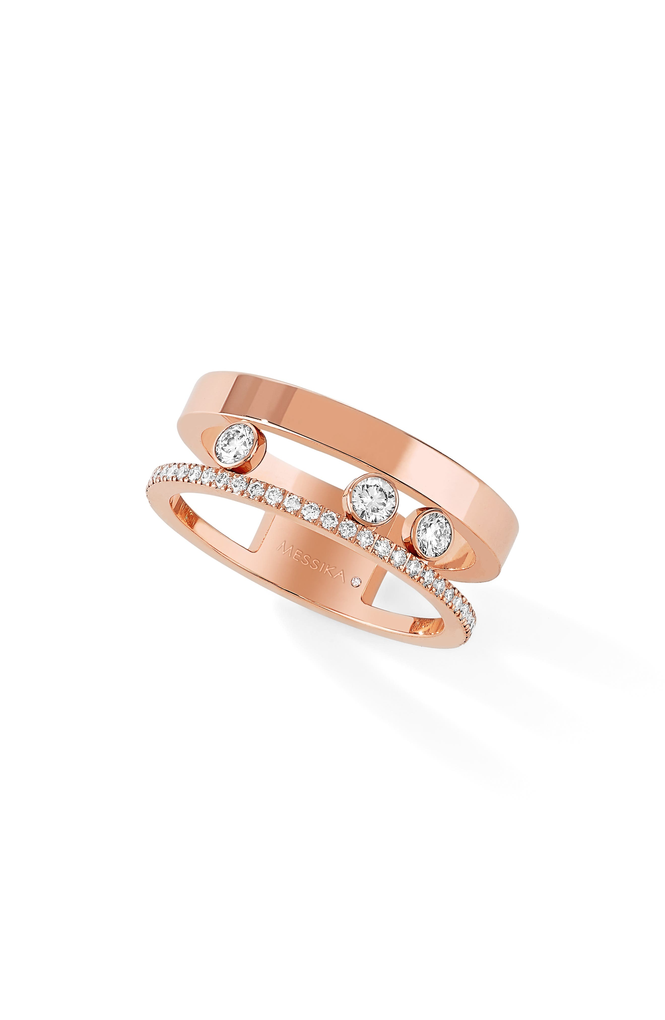 Main Image - Messika Two Row Move Romane Diamond Ring