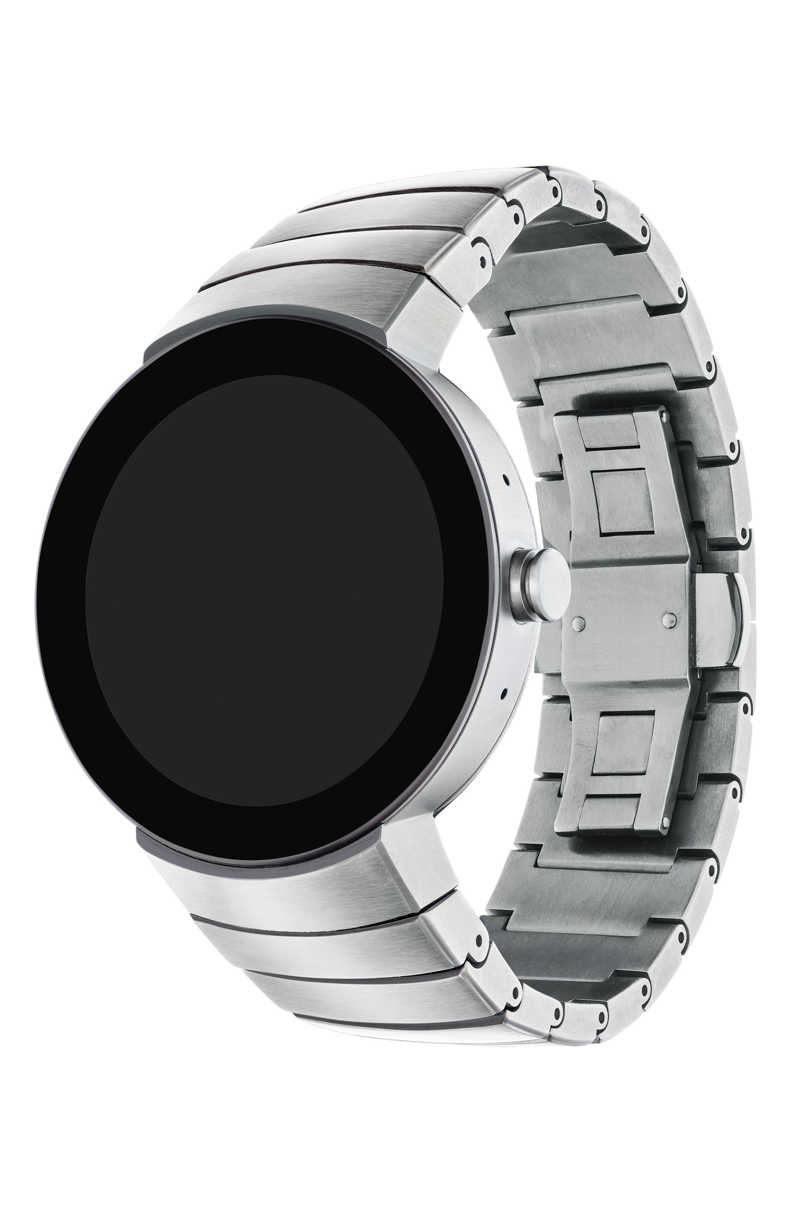 Connect Bracelet Smart Watch, 46mm,                             Alternate thumbnail 3, color,                             Silver