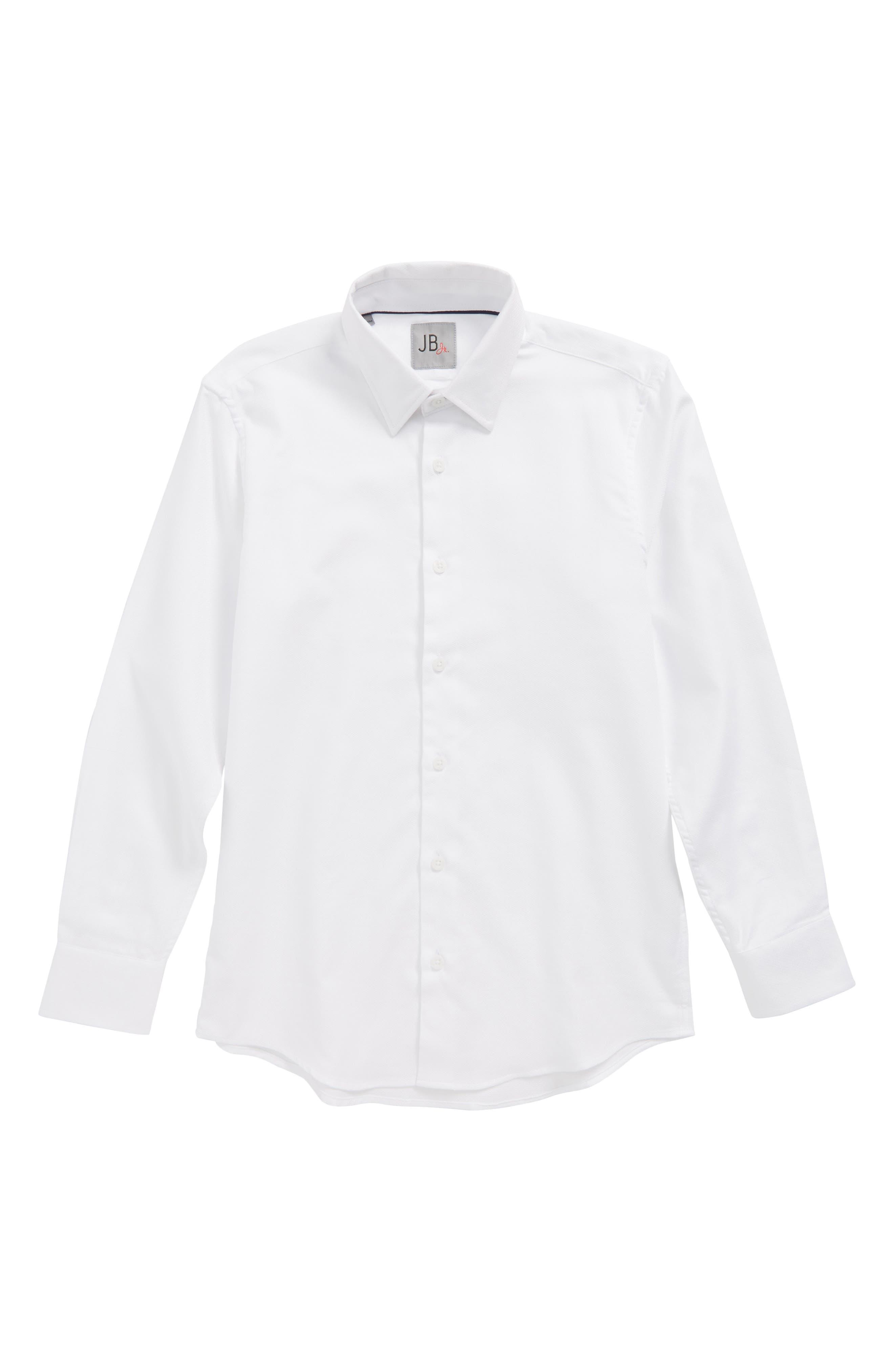 Textured Dress Shirt,                             Main thumbnail 1, color,                             White