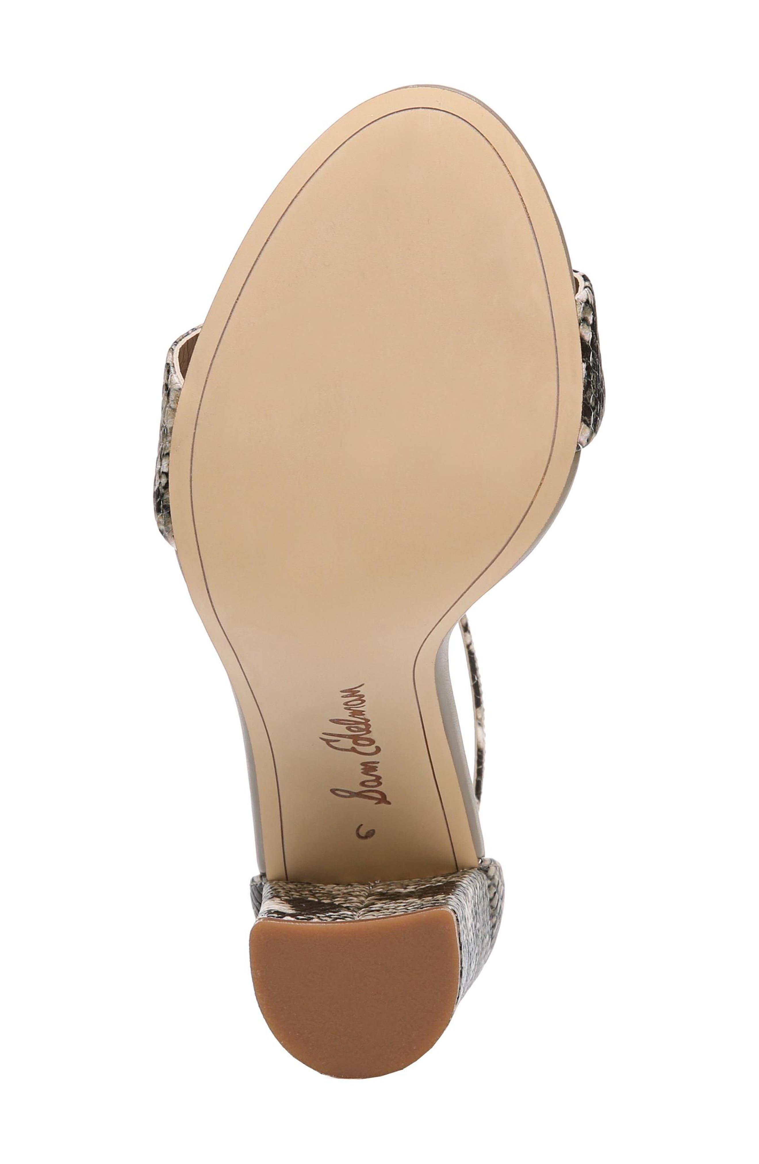 Yaro Ankle Strap Sandal,                             Alternate thumbnail 4, color,                             Natural Snake Print Leather