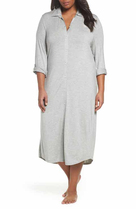 Lauren Ralph Lauren Long Night Shirt (Plus Size)