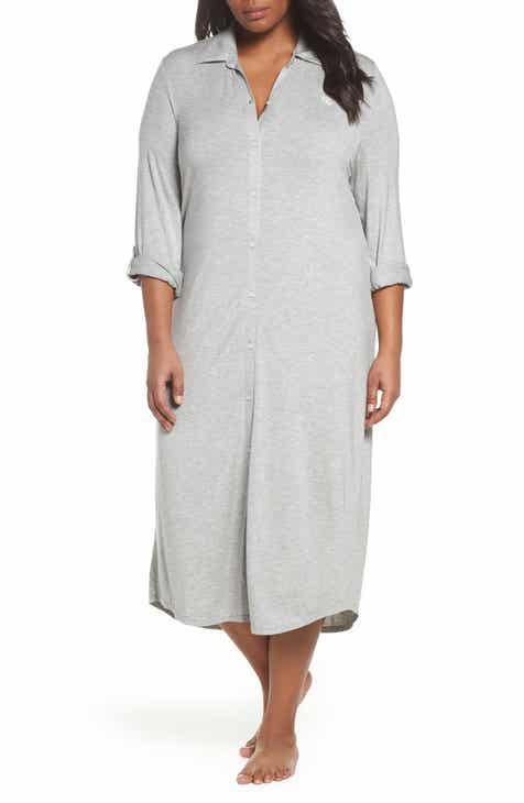 3715c3c433d Lauren Ralph Lauren Long Night Shirt (Plus Size)