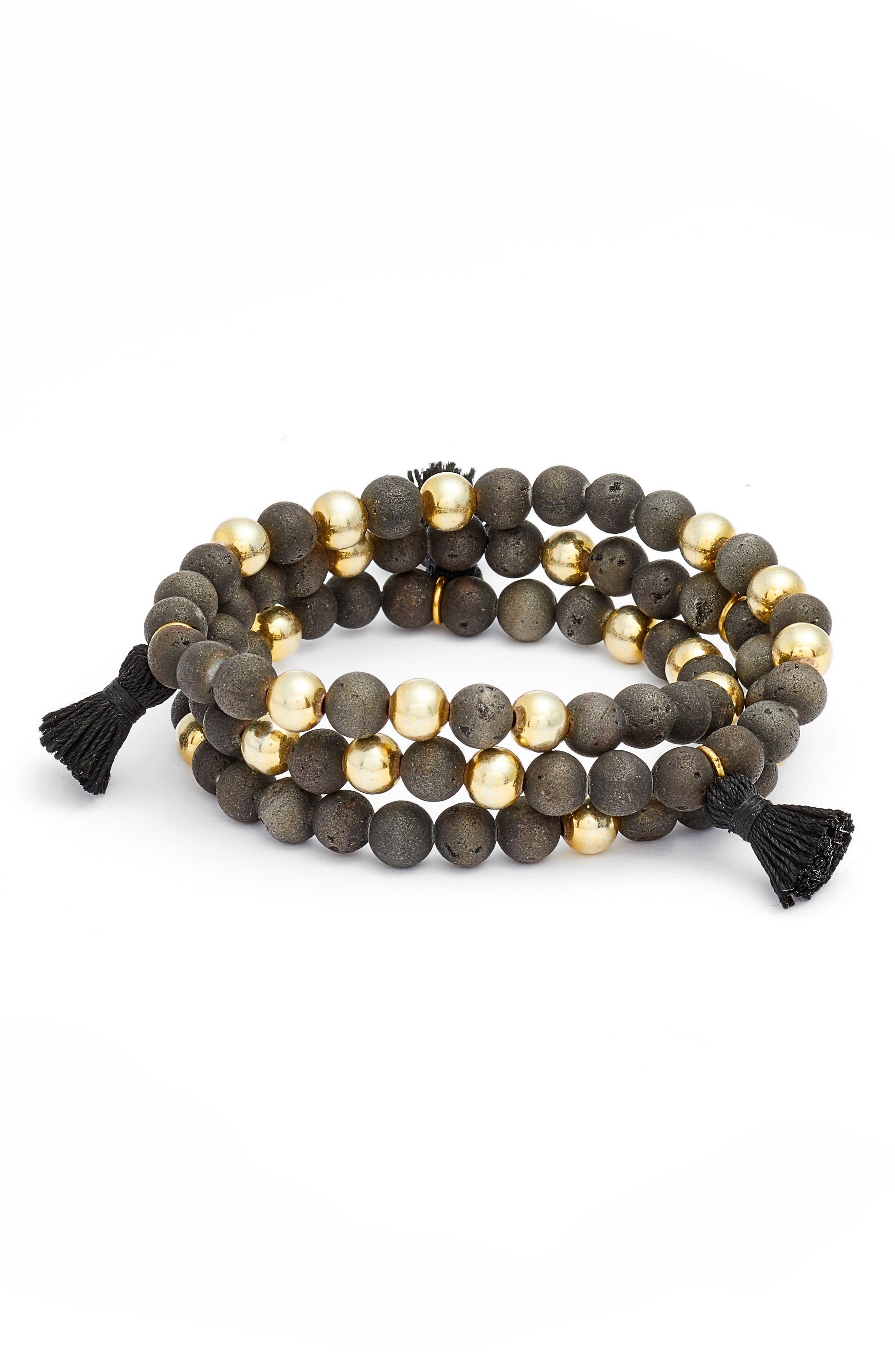 Alternate Image 1 Selected - gorjana Hannah Drusy Tassel Wrap Bracelet