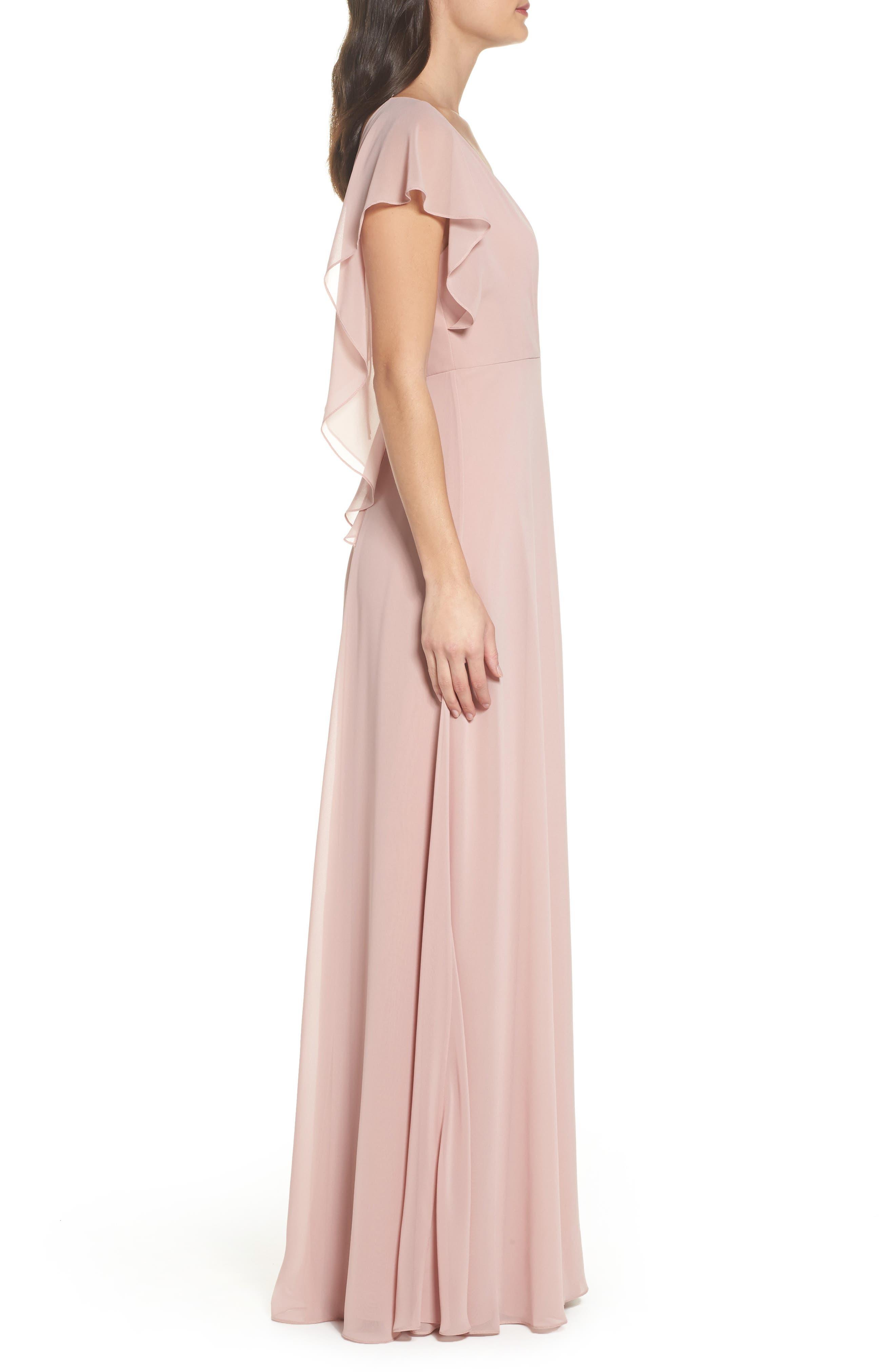 Alternate Image 3  - Jenny Yoo Alanna Open Back Chiffon Gown
