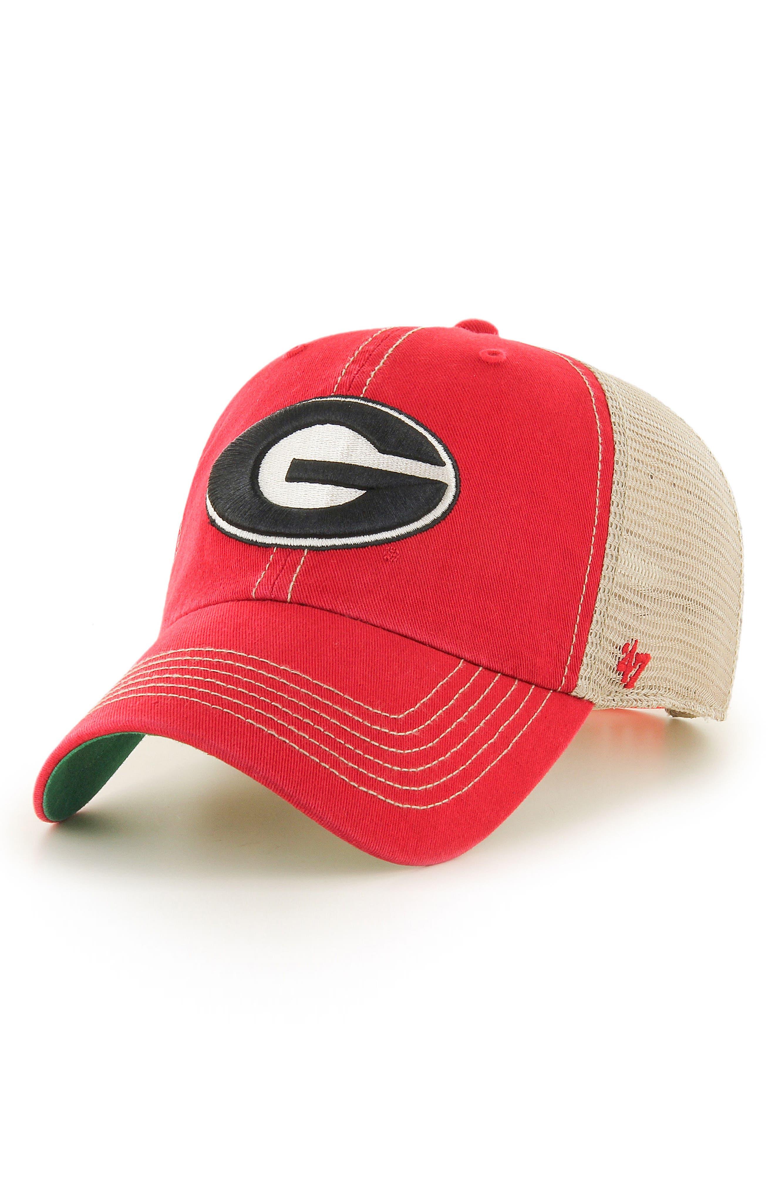 Collegiate Trawler Clean-Up Trucker Hat,                         Main,                         color, Georgia Bulldogs