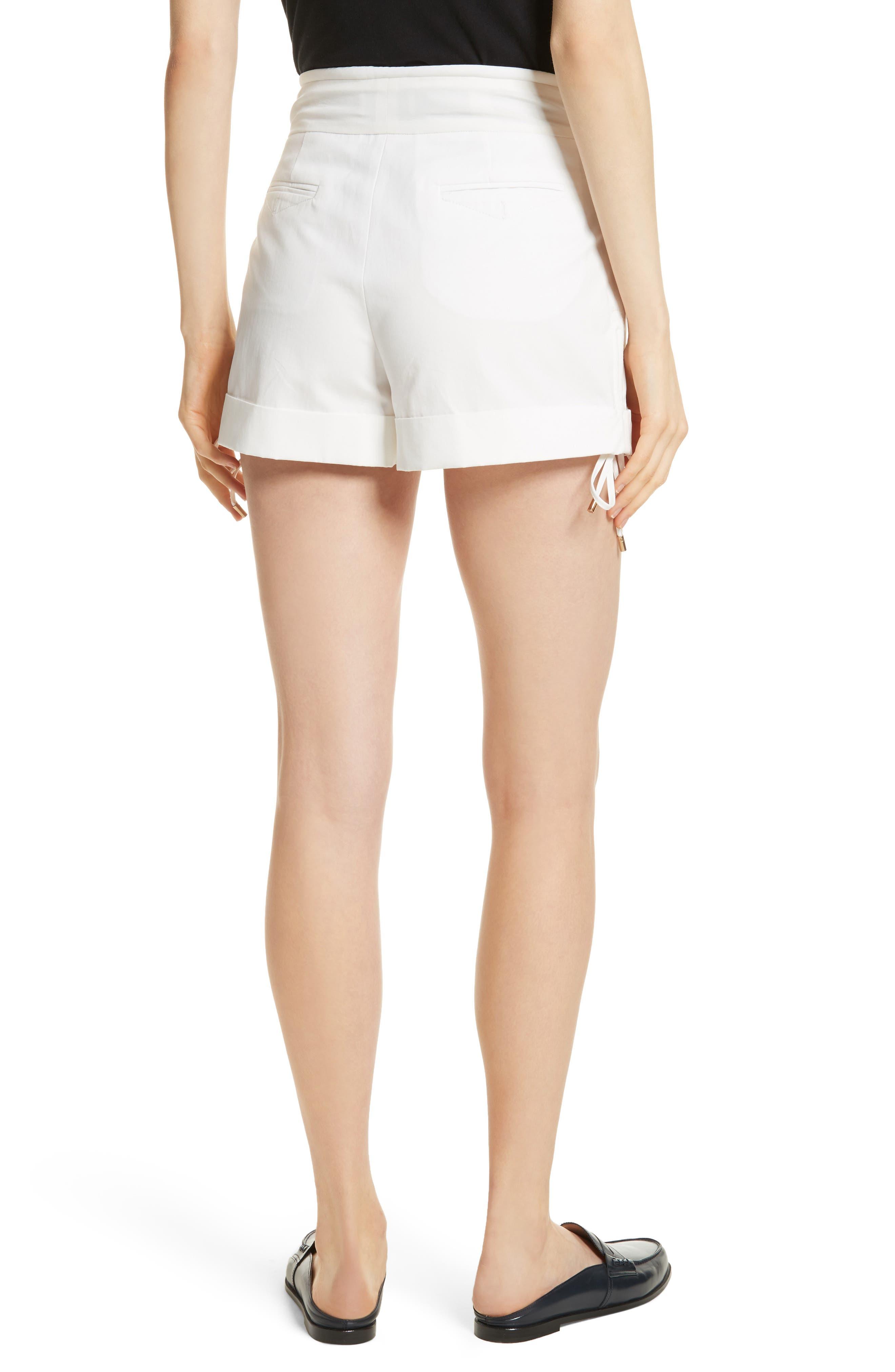 High Waist Shorts,                             Alternate thumbnail 2, color,                             Blanc Antique