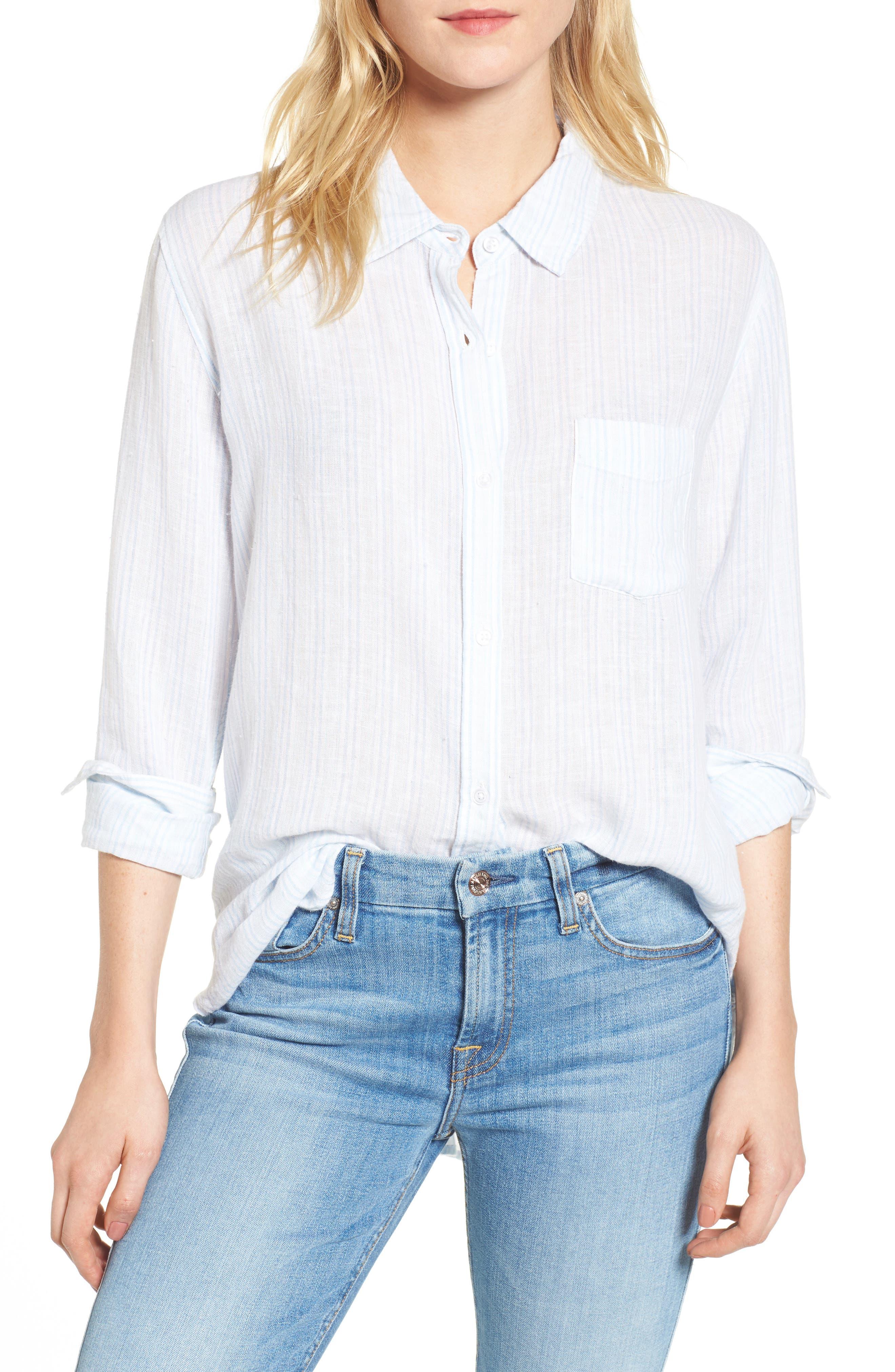 Charli Stripe Shirt,                             Main thumbnail 1, color,                             Playa Stripe