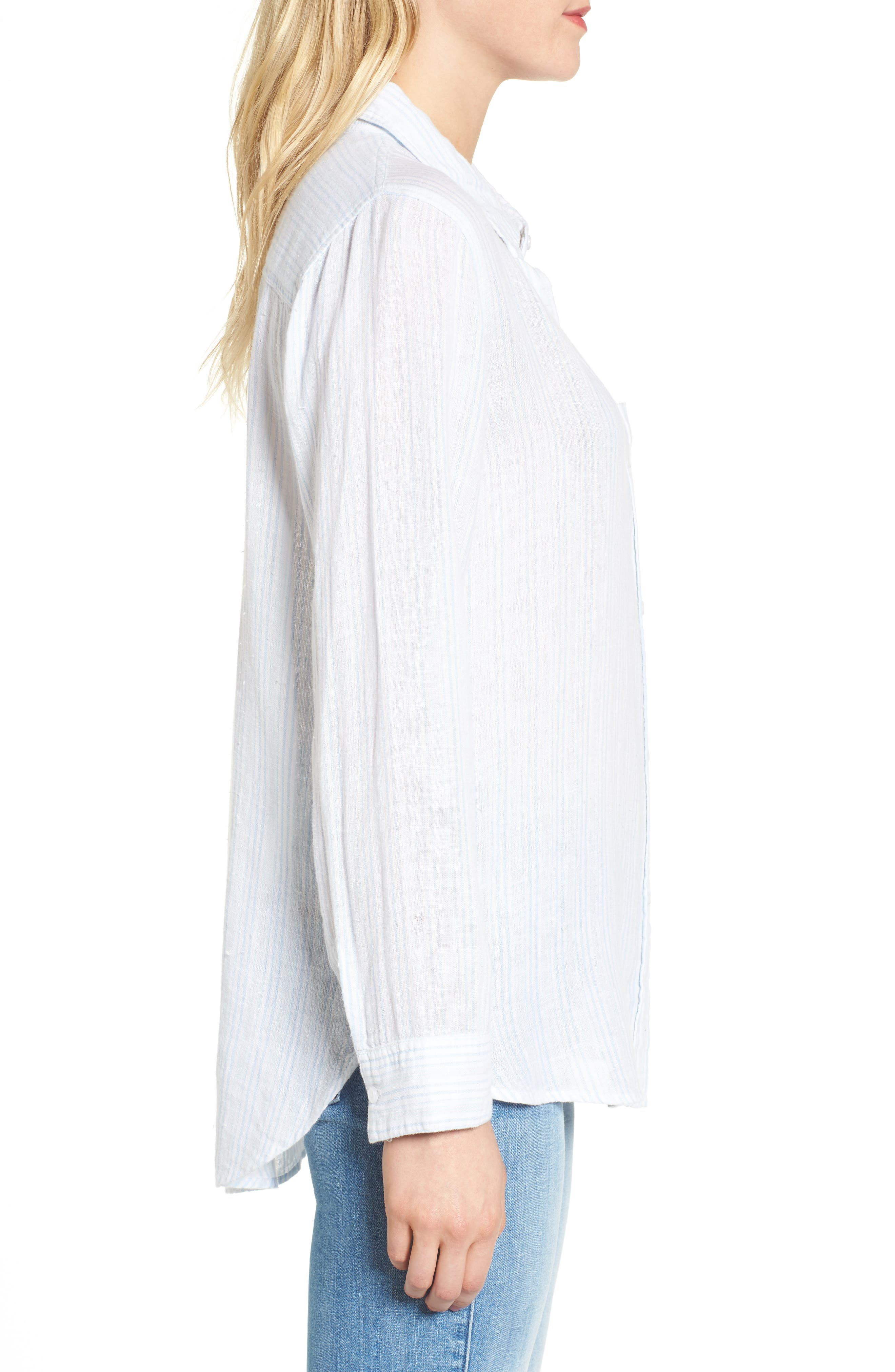 Charli Stripe Shirt,                             Alternate thumbnail 3, color,                             Playa Stripe