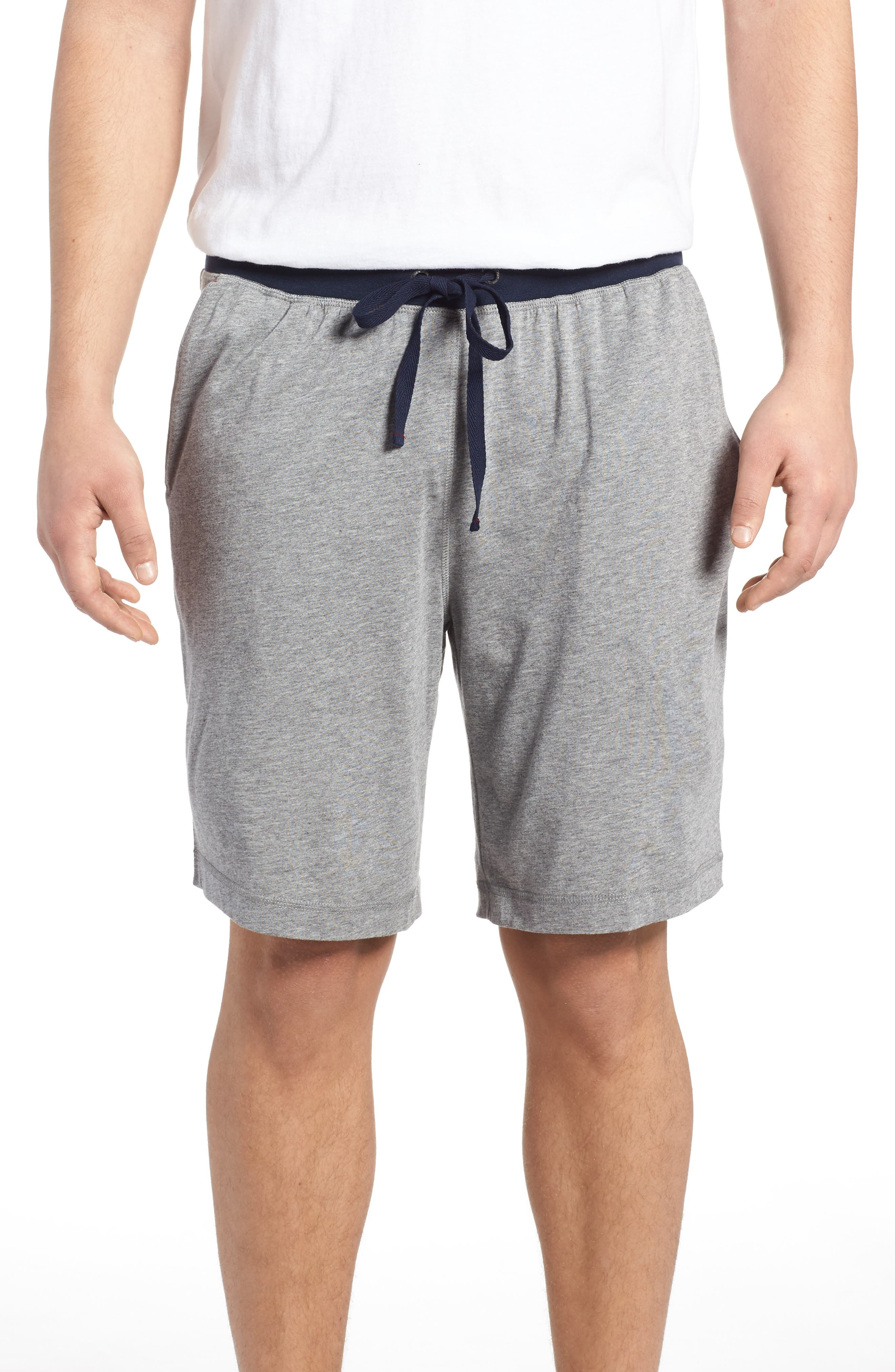 Pima Cotton & Modal Lounge Shorts,                             Main thumbnail 1, color,                             Grey Heather