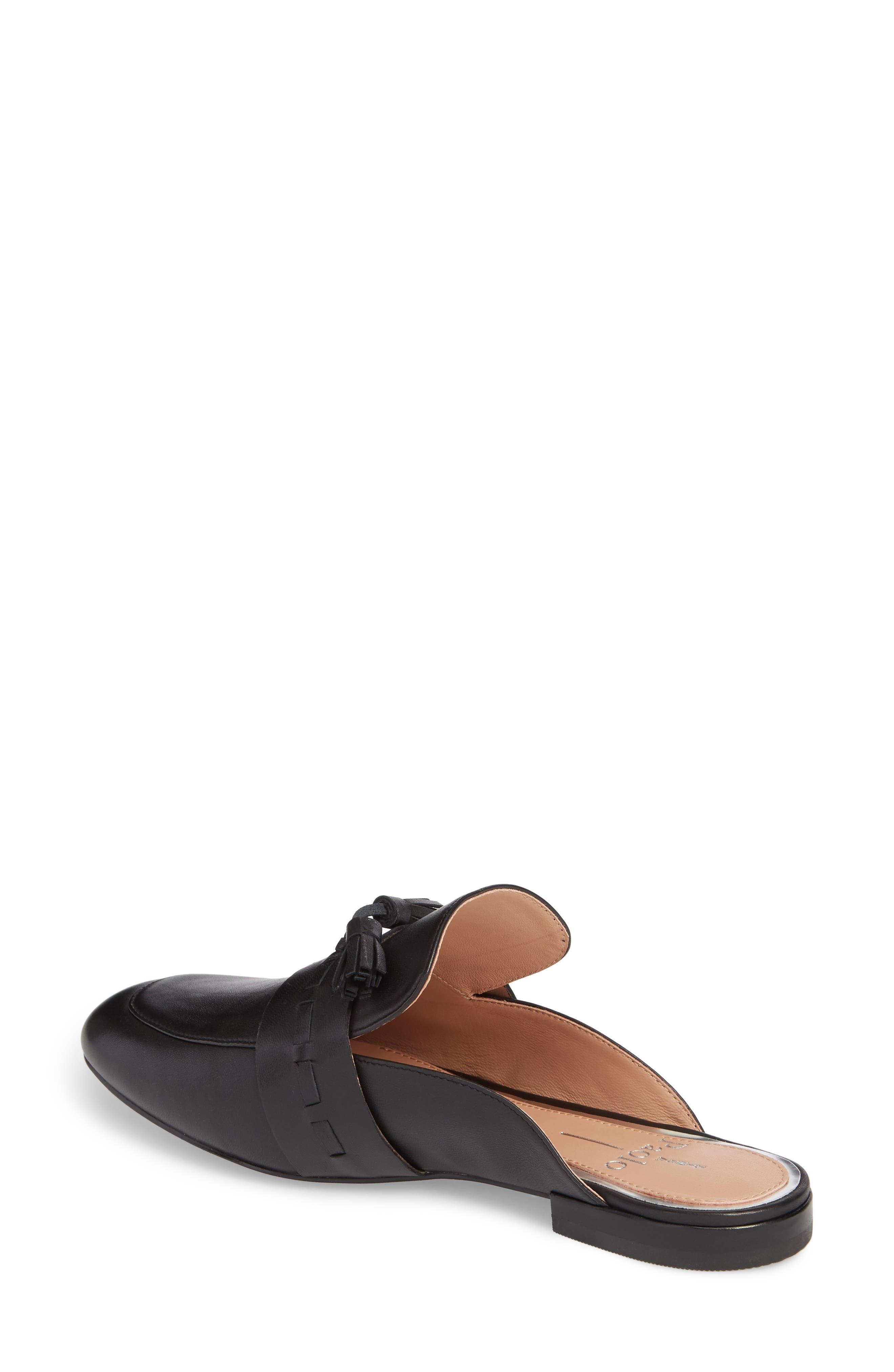 Abbot Tassel Mule,                             Alternate thumbnail 2, color,                             Black Leather