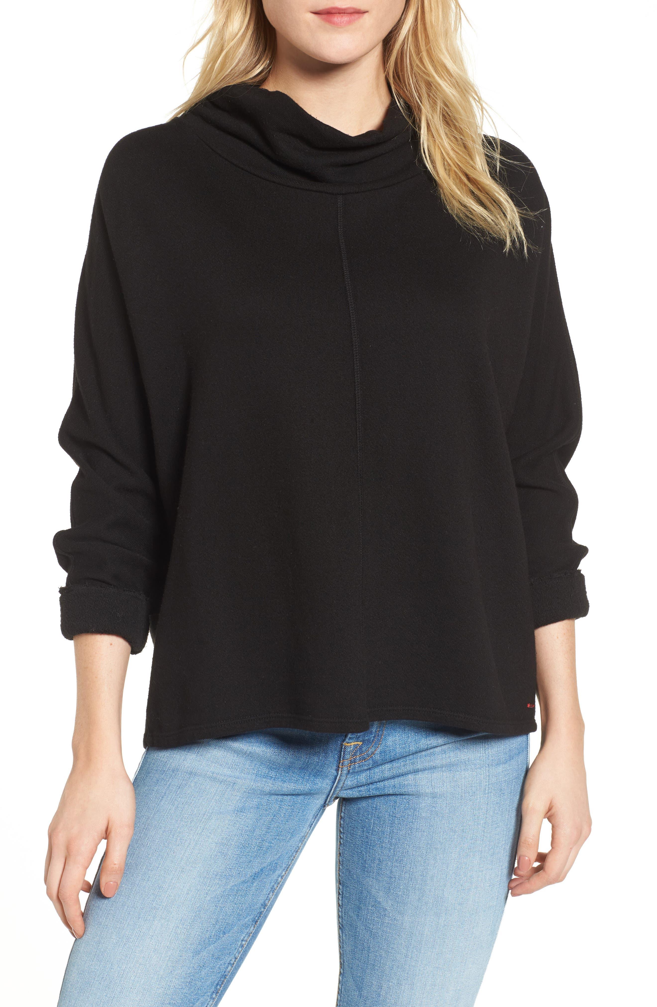 Helix Turtleneck Sweatshirt,                         Main,                         color, Black Cat