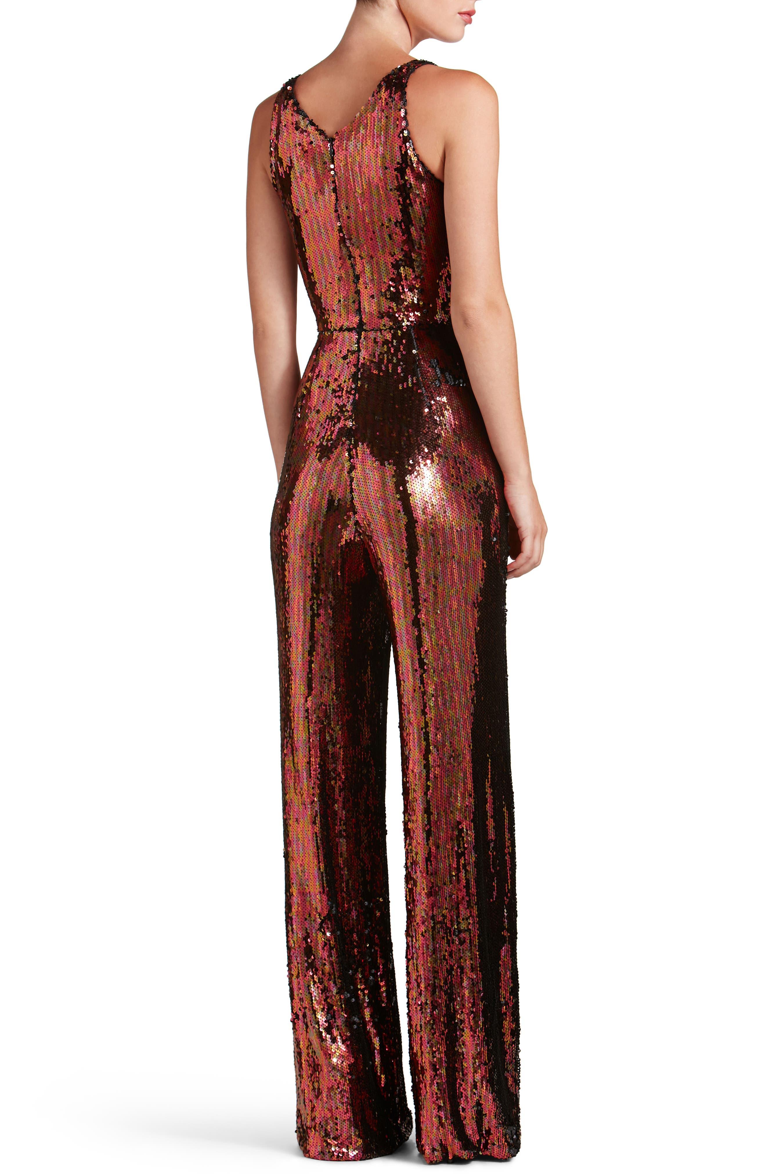 Alternate Image 2  - Dress the Population Charlie Sequin Jumpsuit