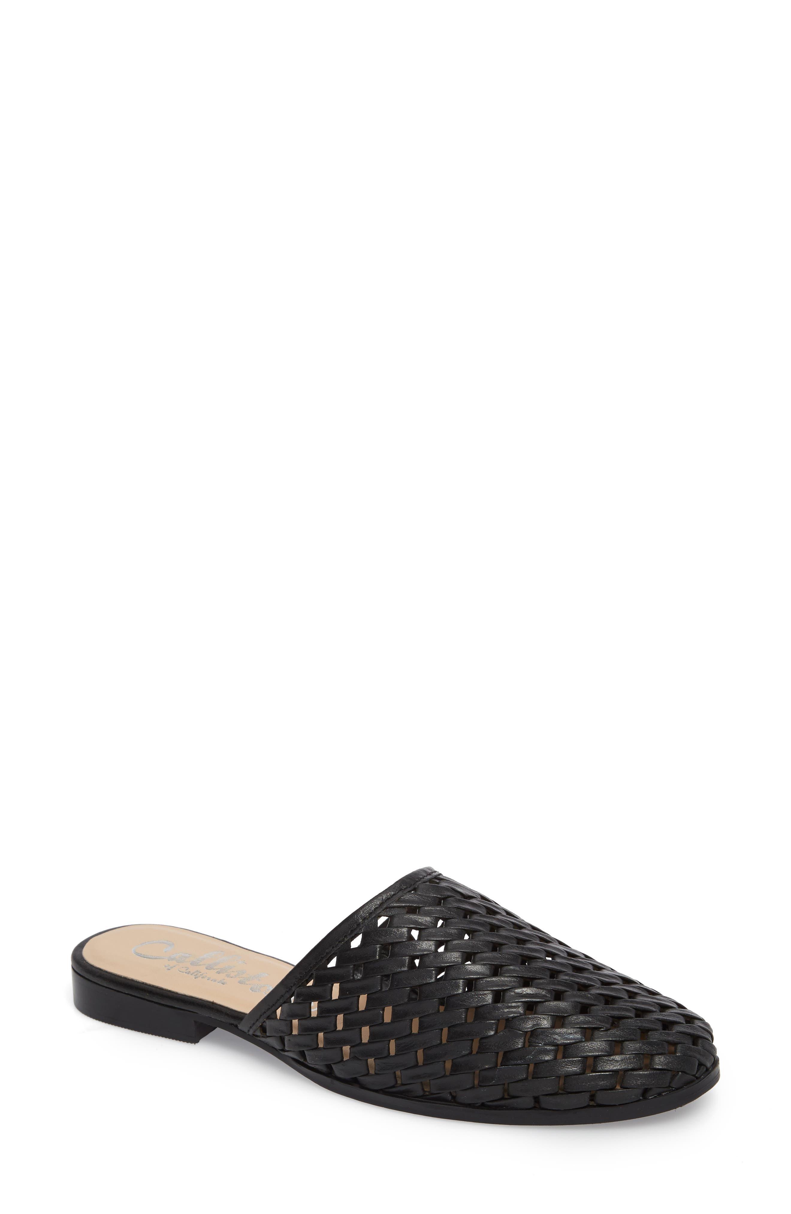 Fenix Mule,                         Main,                         color, Black Leather