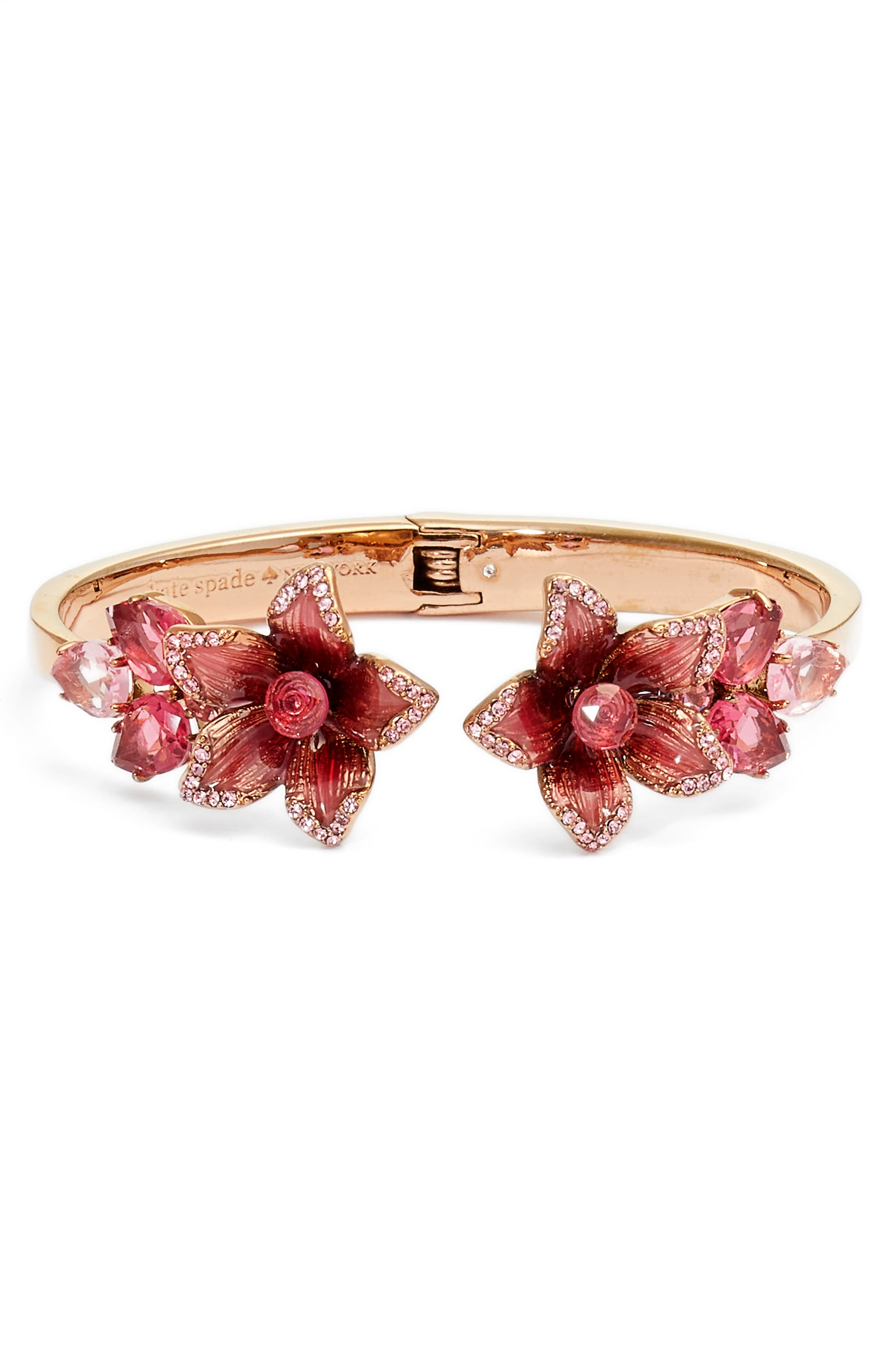 winter garden open hinged cuff,                             Main thumbnail 1, color,                             Pink Multi