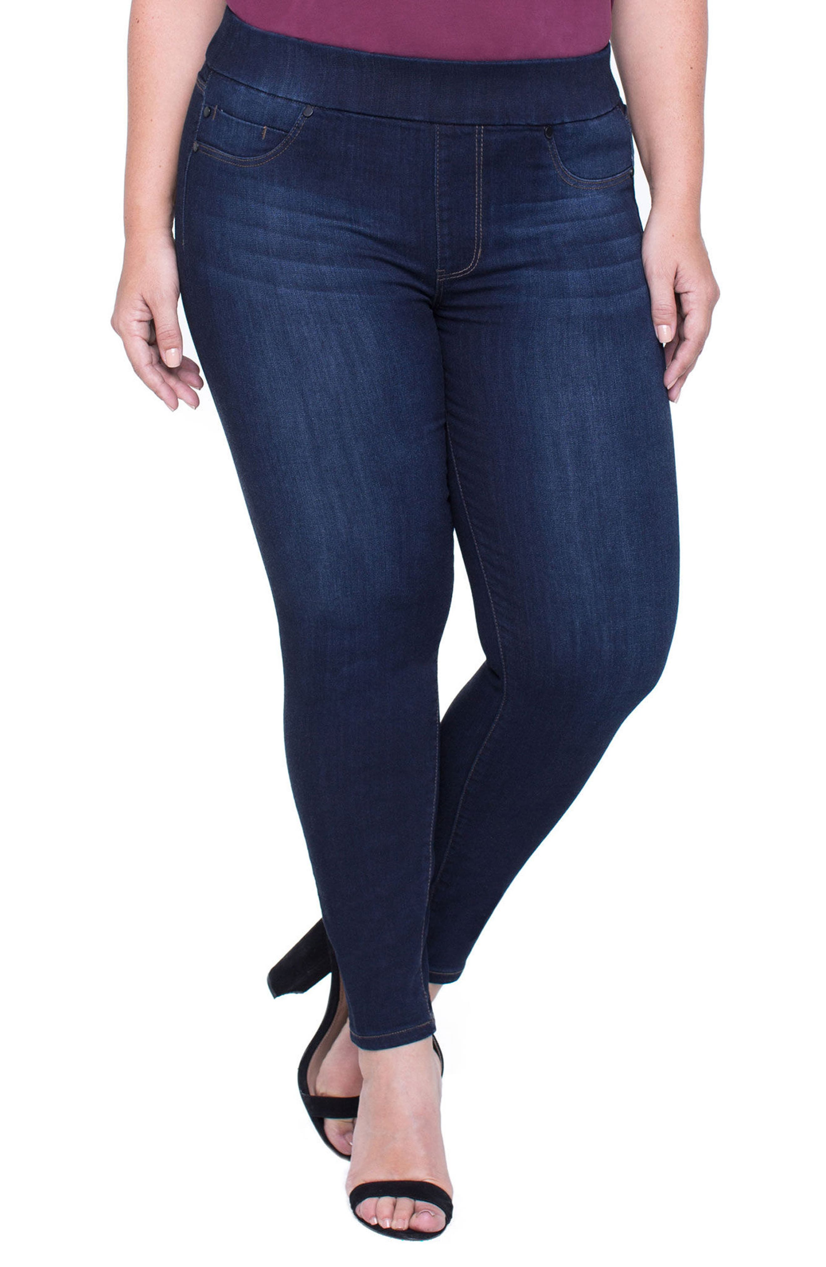 Alternate Image 3  - Liverpool Jeans Company Sienna Pull-On Stretch Ankle Jeans (Plus Size)