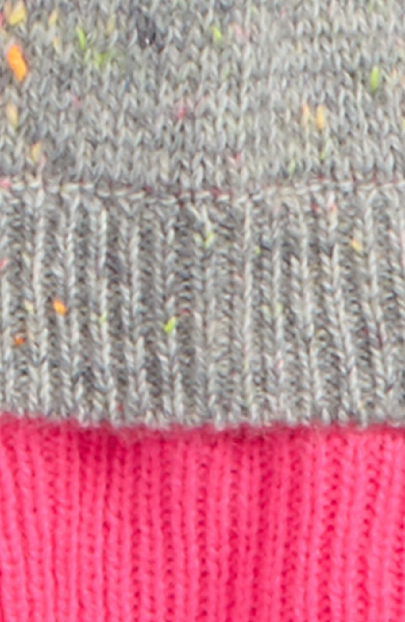 Neon Knit Sweater,                             Alternate thumbnail 2, color,                             Grey Heather
