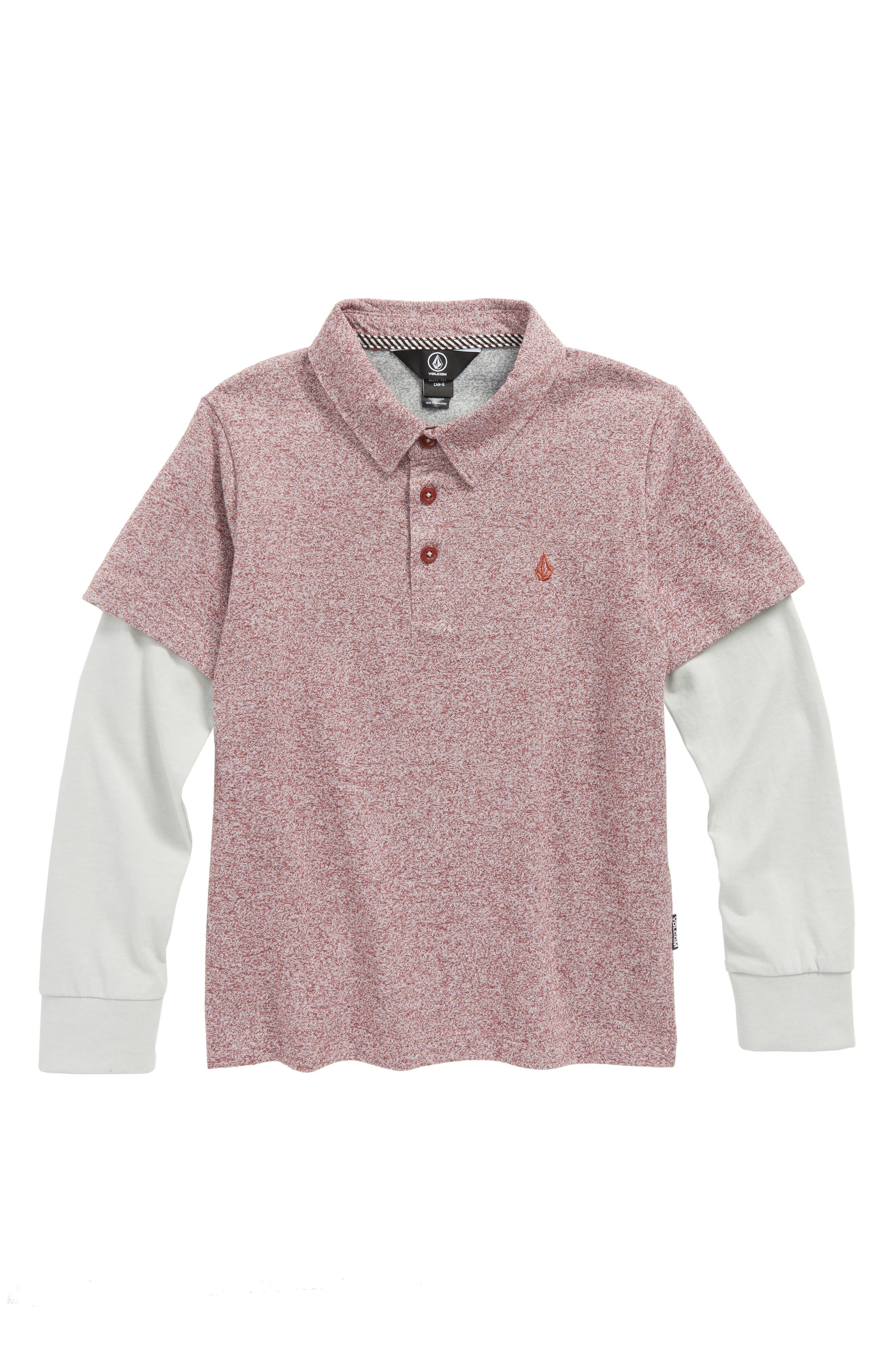Volcom Wowzer Layered Long Sleeve Polo (Toddler Boys & Little Boys)