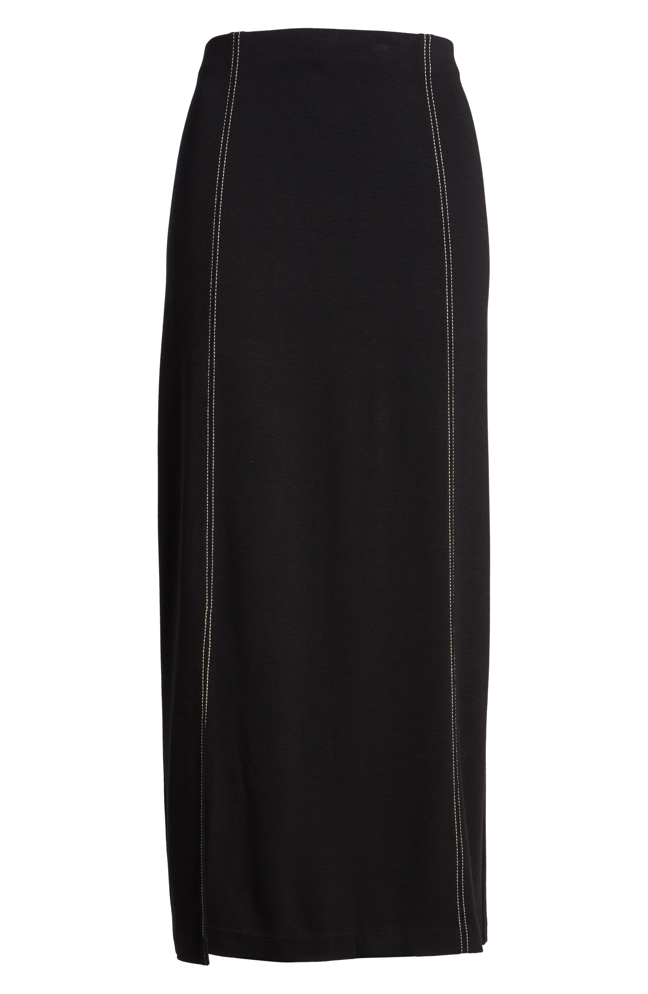 Break Out Maxi Skirt,                             Alternate thumbnail 6, color,                             Black Onyx
