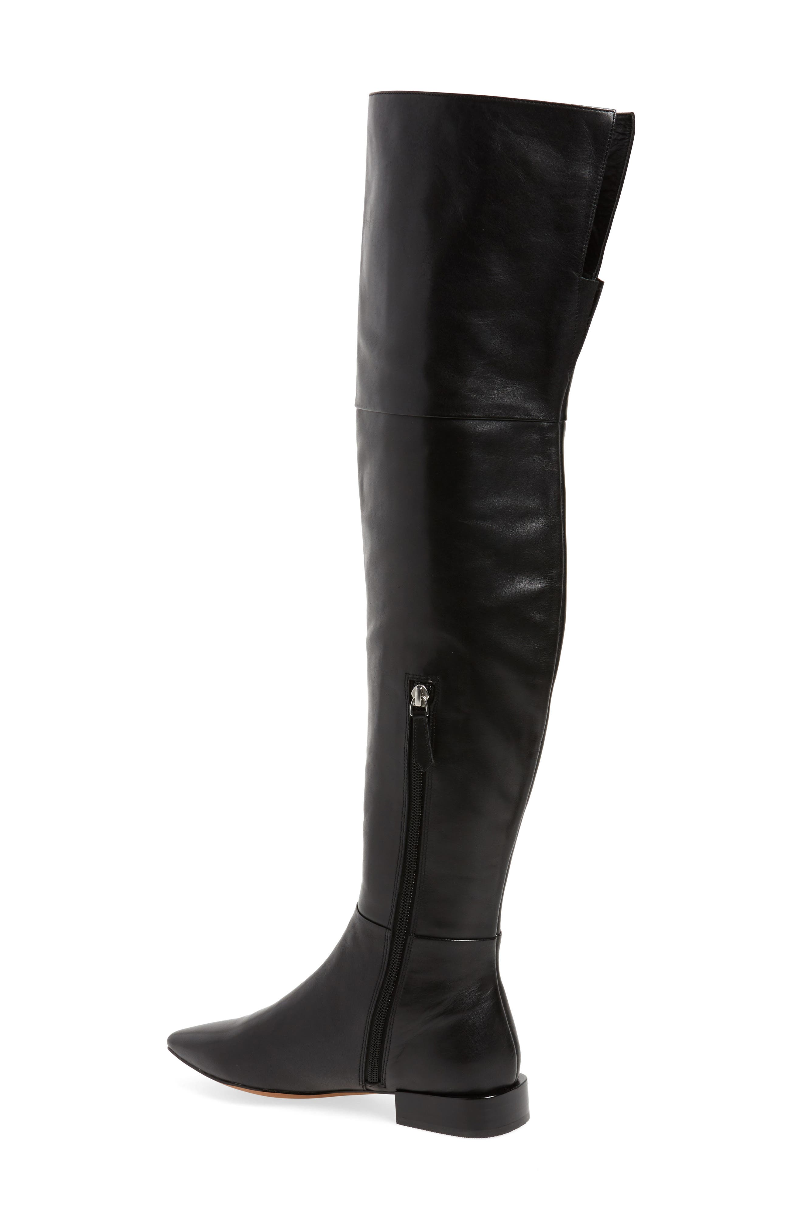 Kiki Over the Knee Boot,                             Alternate thumbnail 2, color,                             Black Leather