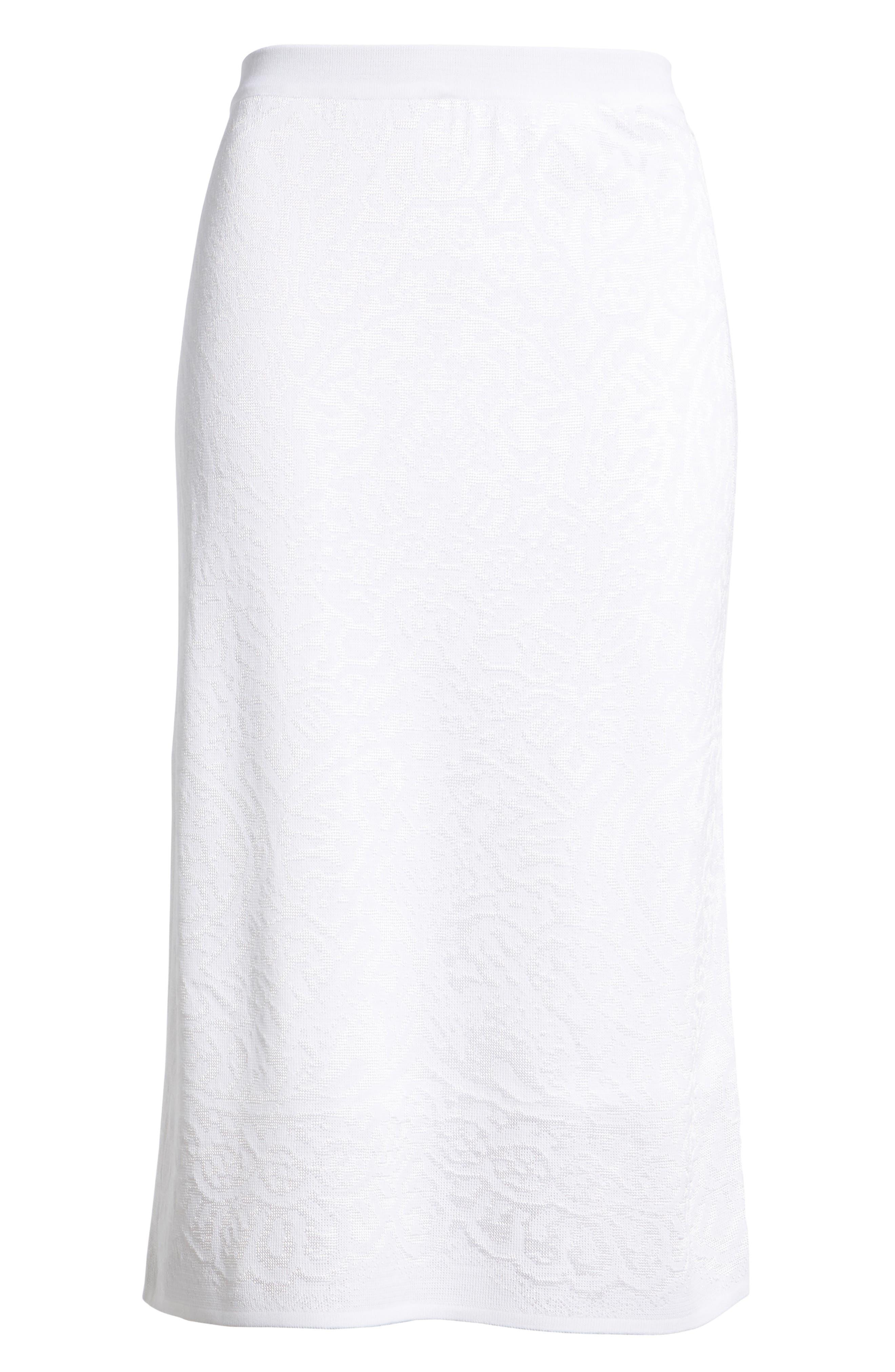 Alternate Image 6  - Ming Wang Jacquard Knit Straight Skirt