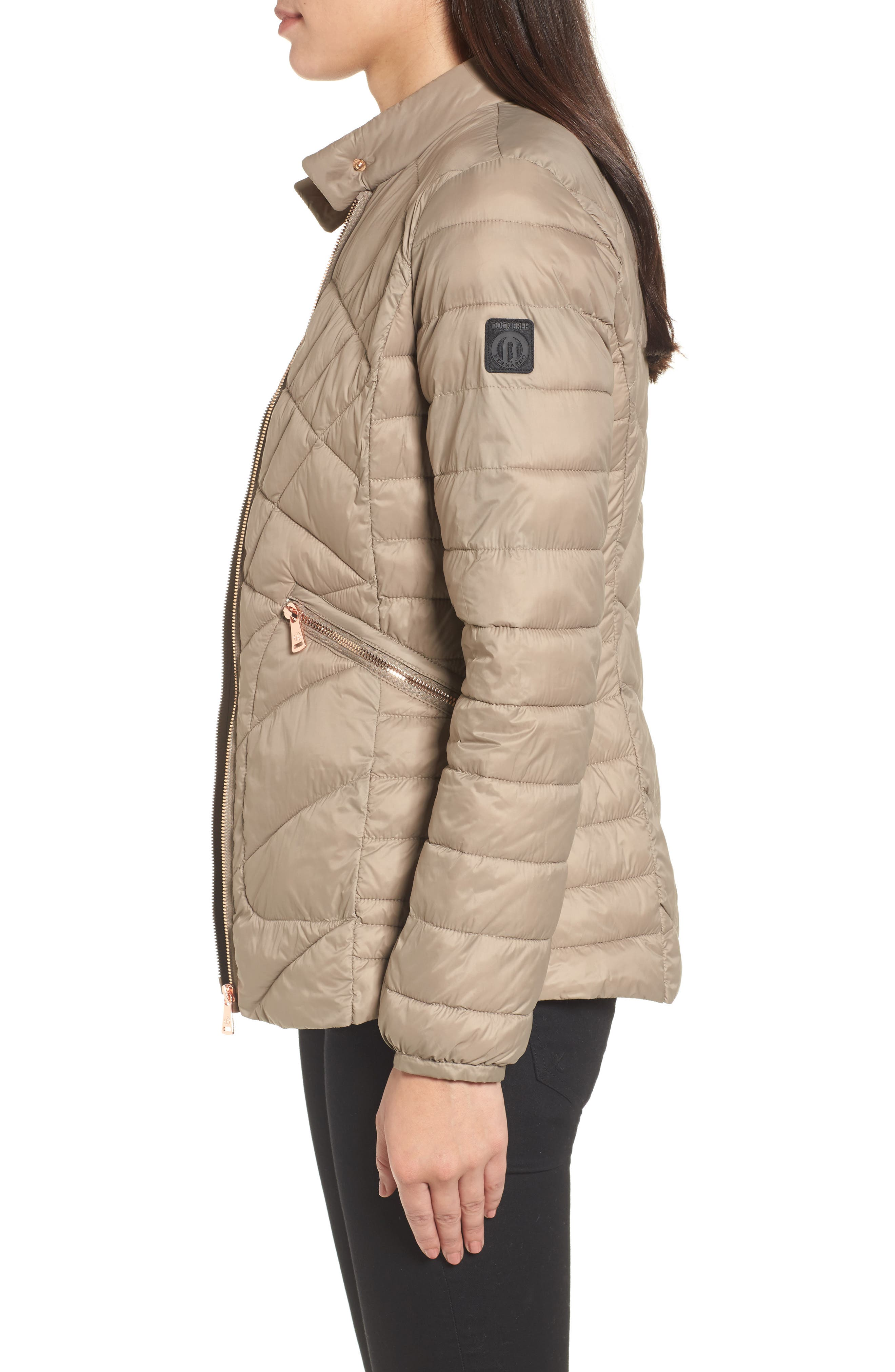 Water-Resistant Thermoplume Insulated Jacket,                             Alternate thumbnail 3, color,                             Warm Sand