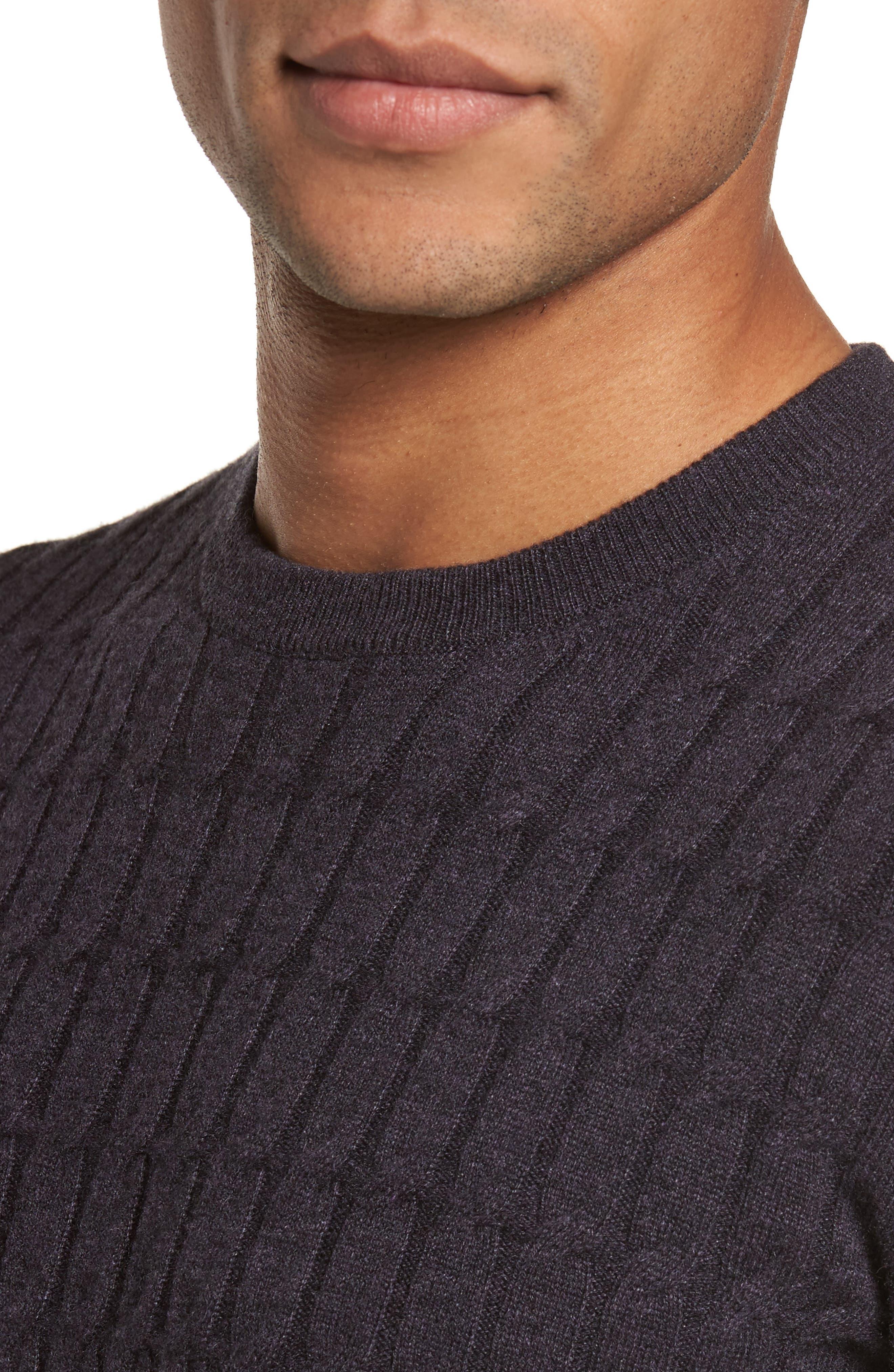 Alternate Image 4  - Eleventy Colorblock Cable Knit Cashmere Sweater