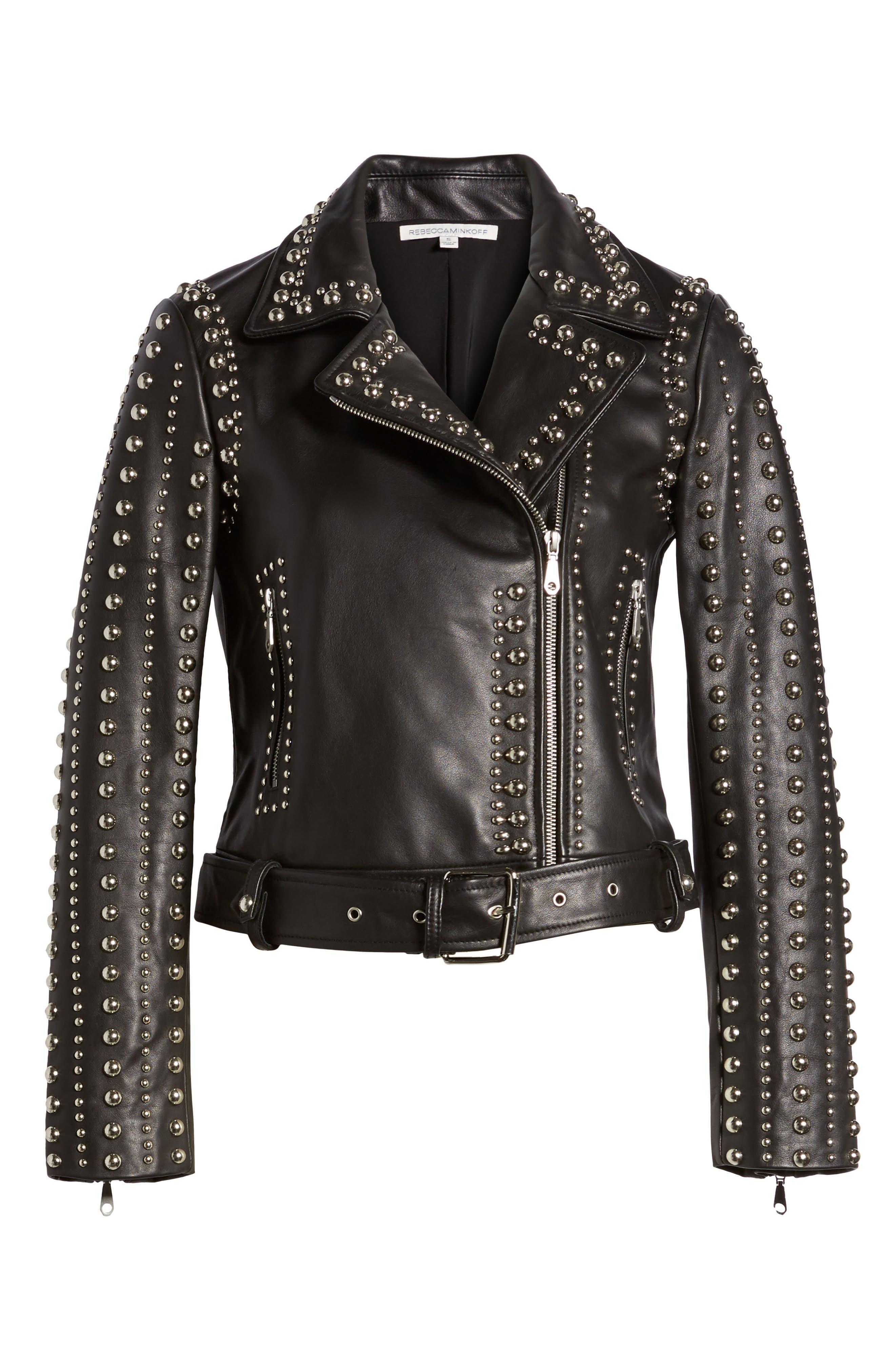 Alternate Image 6  - Rebecca Minkoff Adelia Leather Moto Jacket