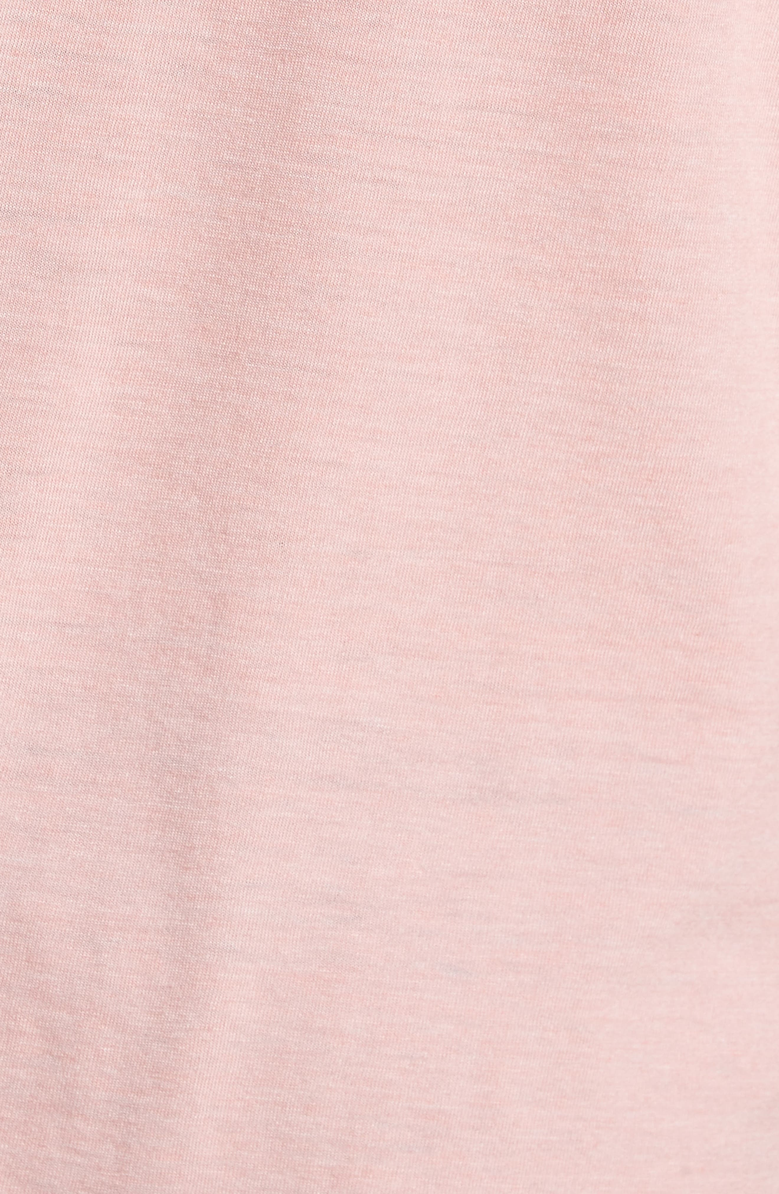 Triblend Scallop Polo,                             Alternate thumbnail 5, color,                             Rose