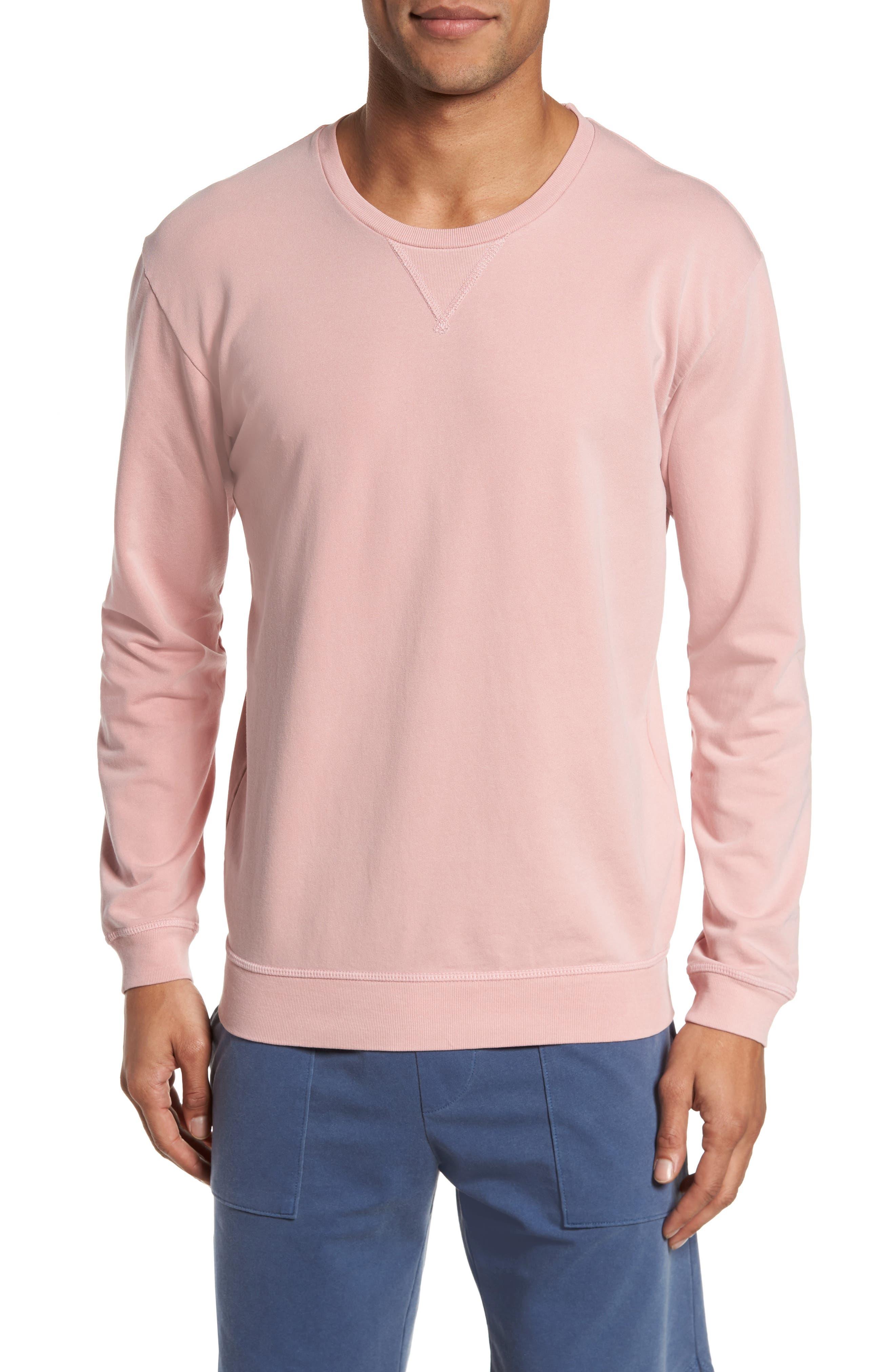 Slim Fit Crewneck Sweatshirt,                         Main,                         color, Faded Rose