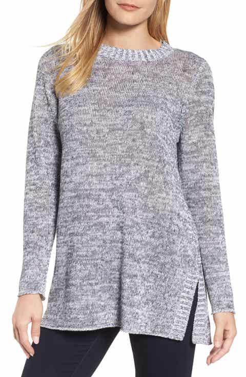 Eileen Fisher Organic Linen Crewneck Sweater