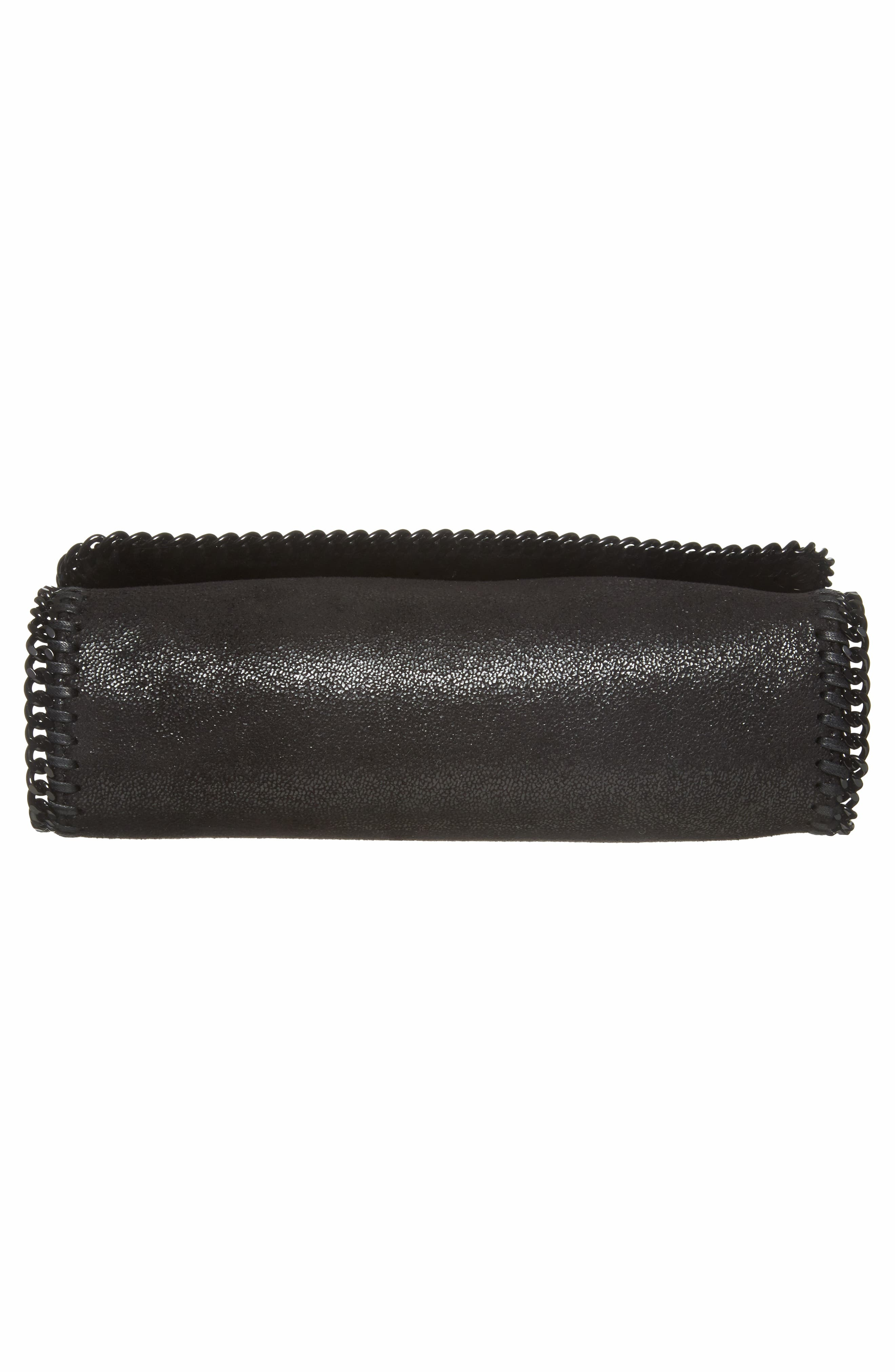 Falabella Shaggy Deer Faux Leather Shoulder Bag,                             Alternate thumbnail 6, color,                             Black