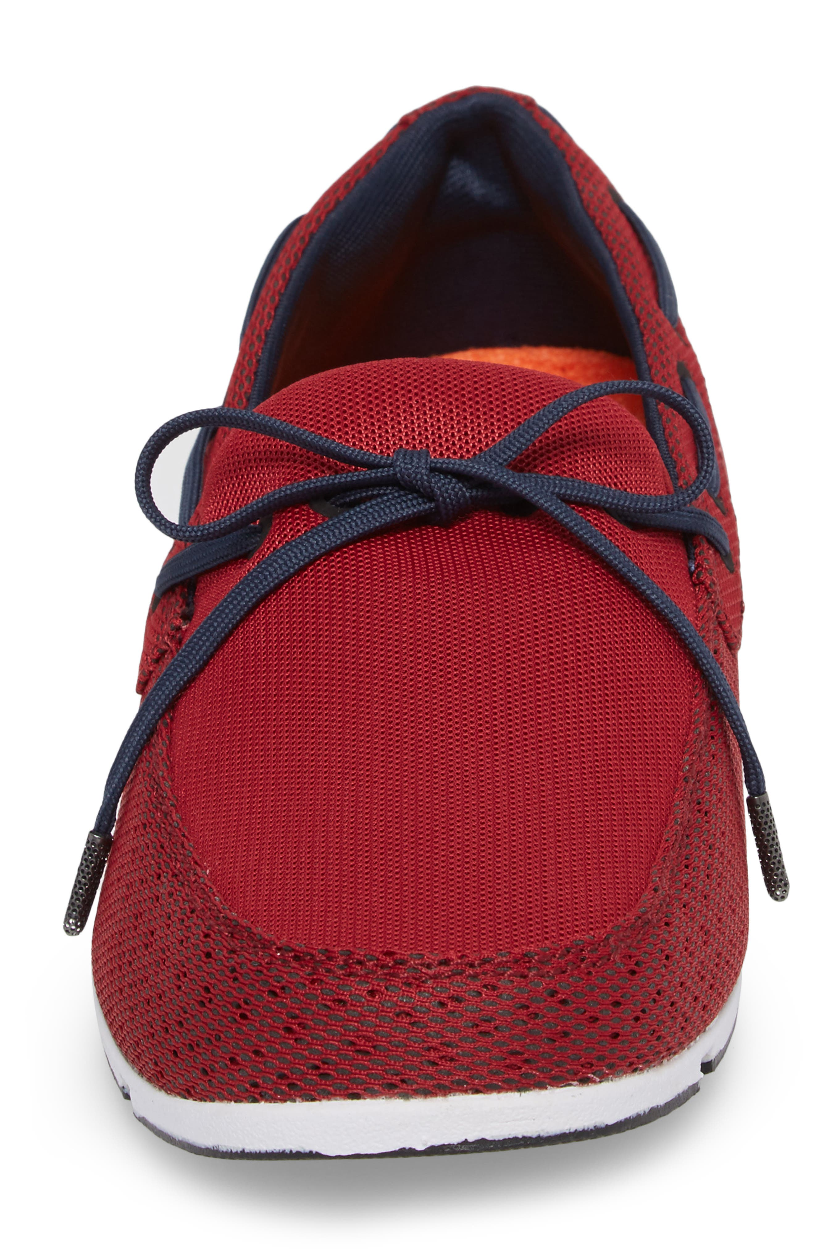 Breeze Loafer,                             Alternate thumbnail 4, color,                             Deep Red/ Navy/ White