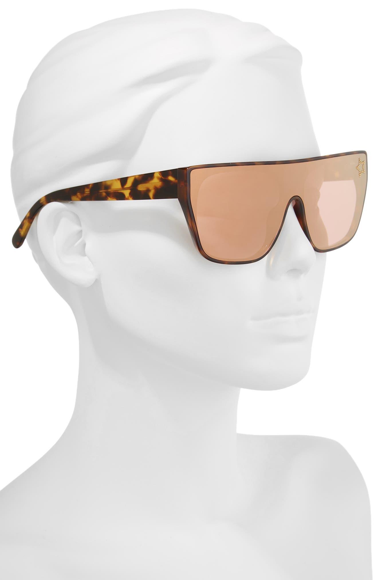 99mm Flat Top Sunglasses,                             Alternate thumbnail 2, color,                             Blonde Avana
