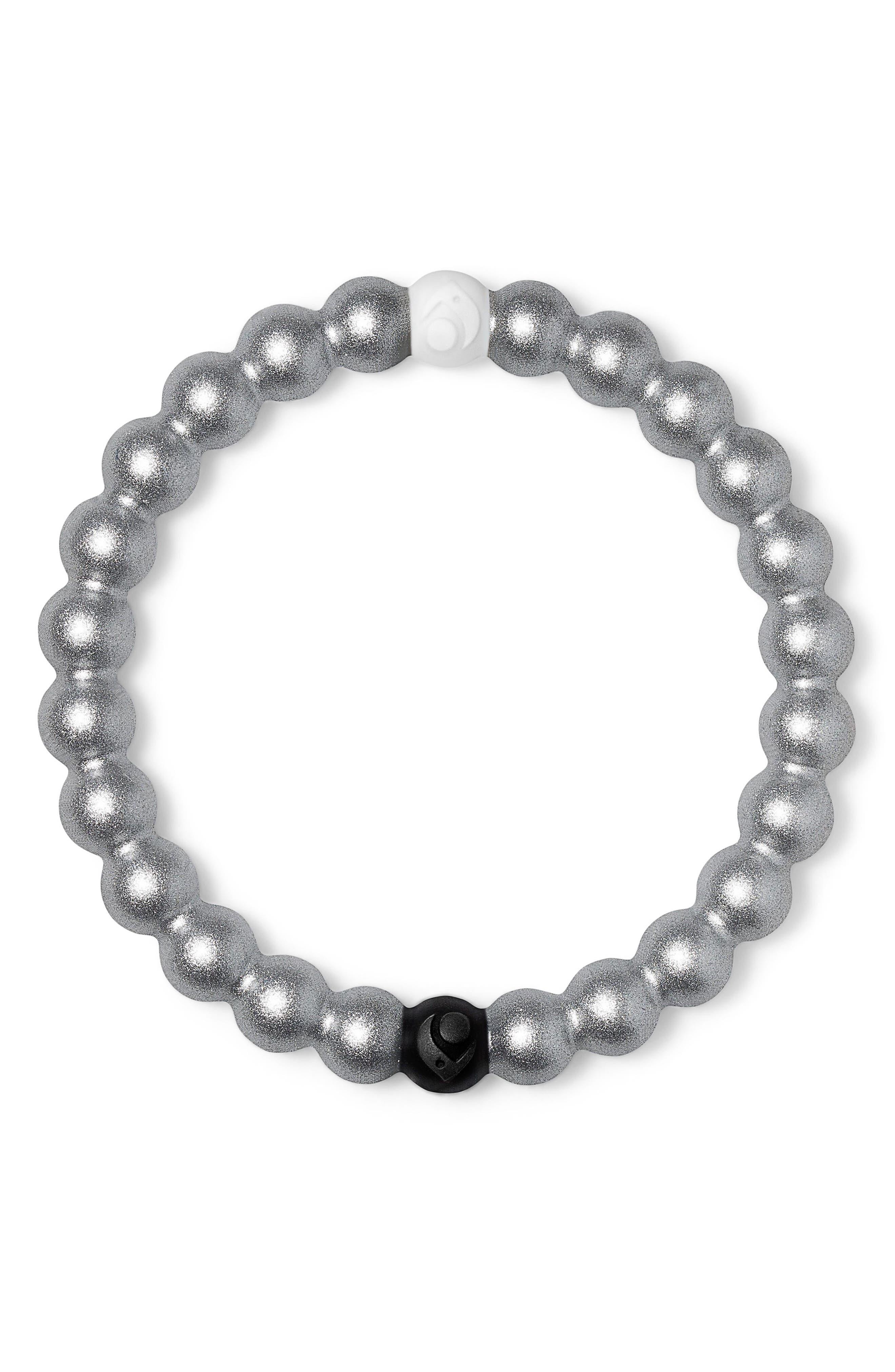 loaki Metallic Bracelet,                         Main,                         color, Metallic Silver