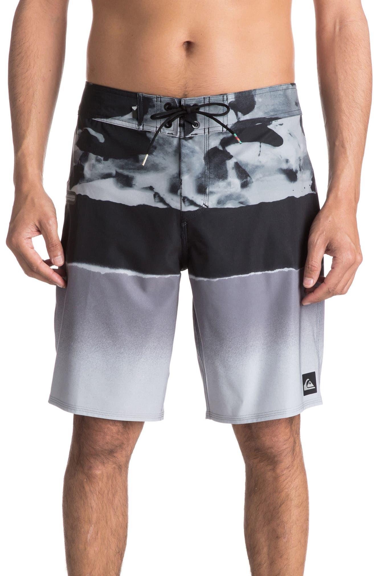 Alternate Image 1 Selected - Quiksilver Blocked Resin Board Shorts